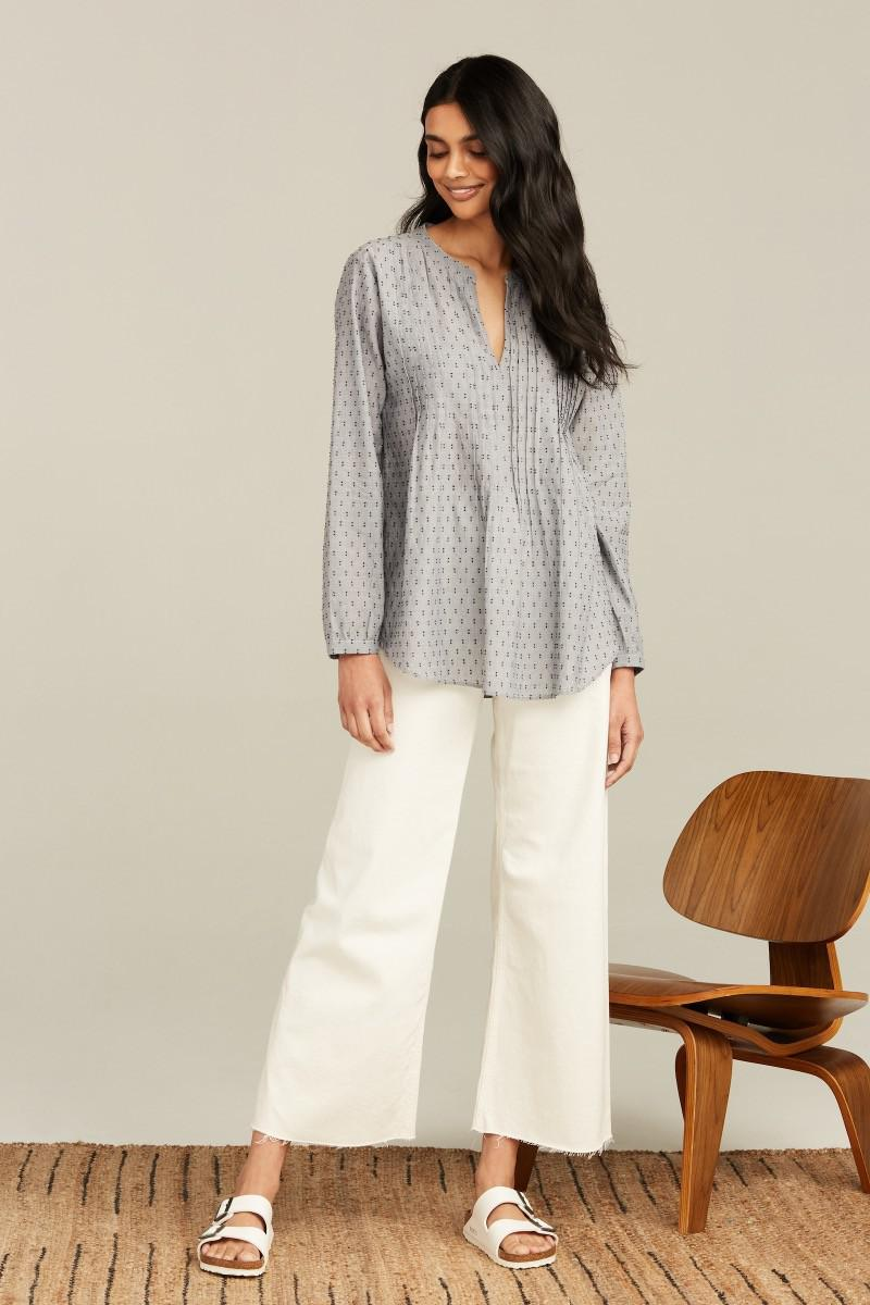 CHAMBRAY FIL COUPE WEI TOP