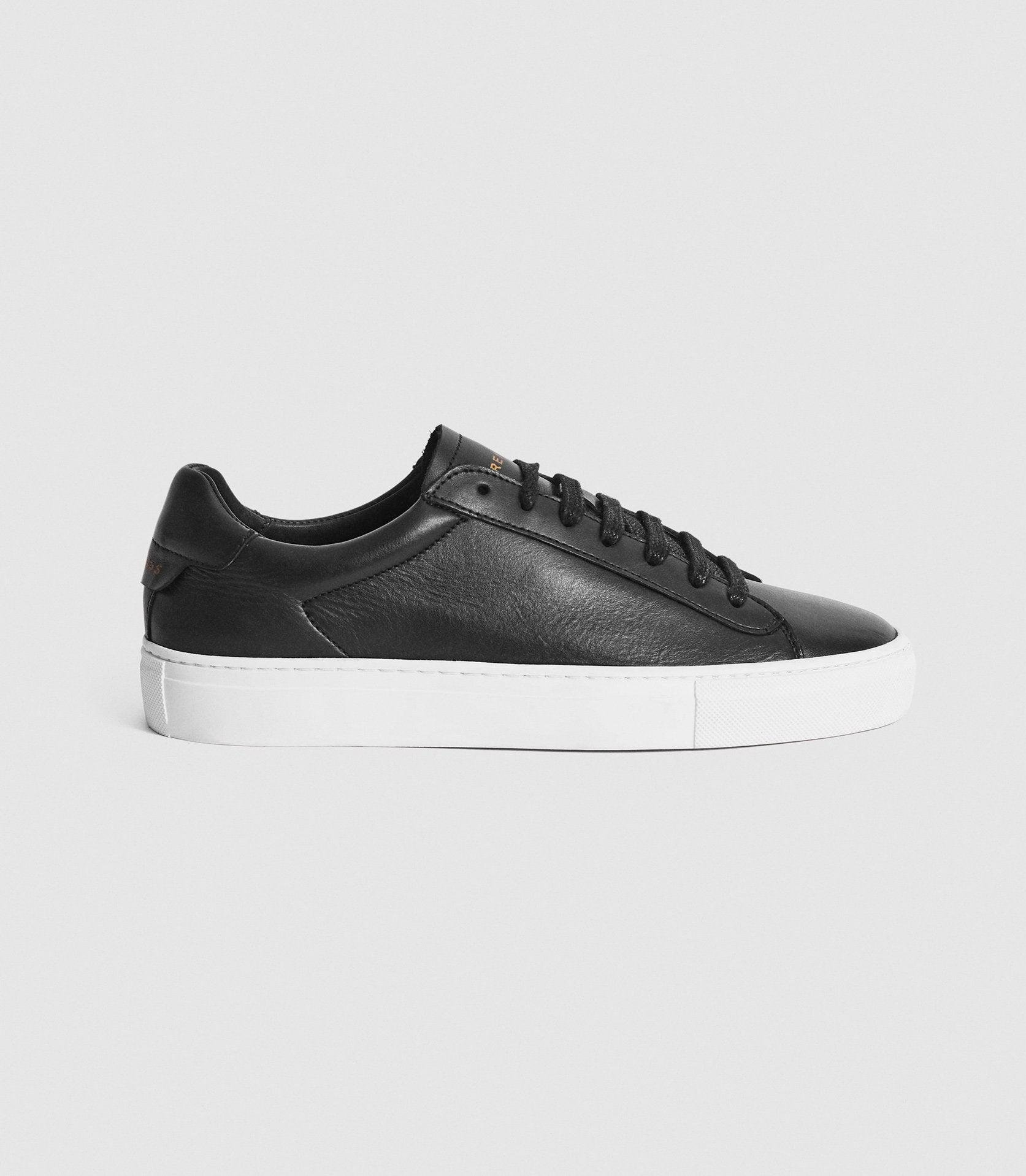 FINLEY - LEATHER CONTRAST SOLE TRAINERS