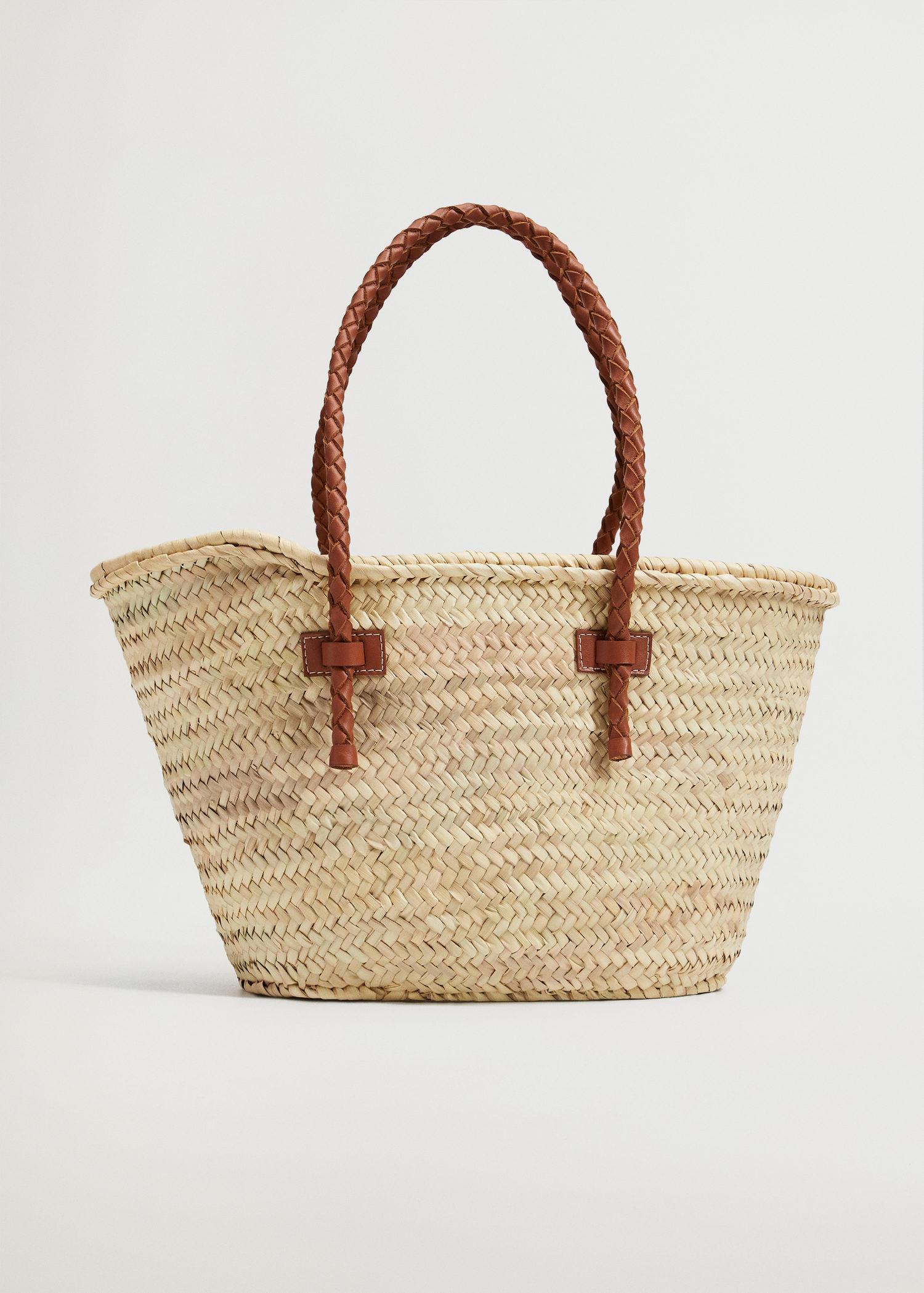 Basket bag with braided straps