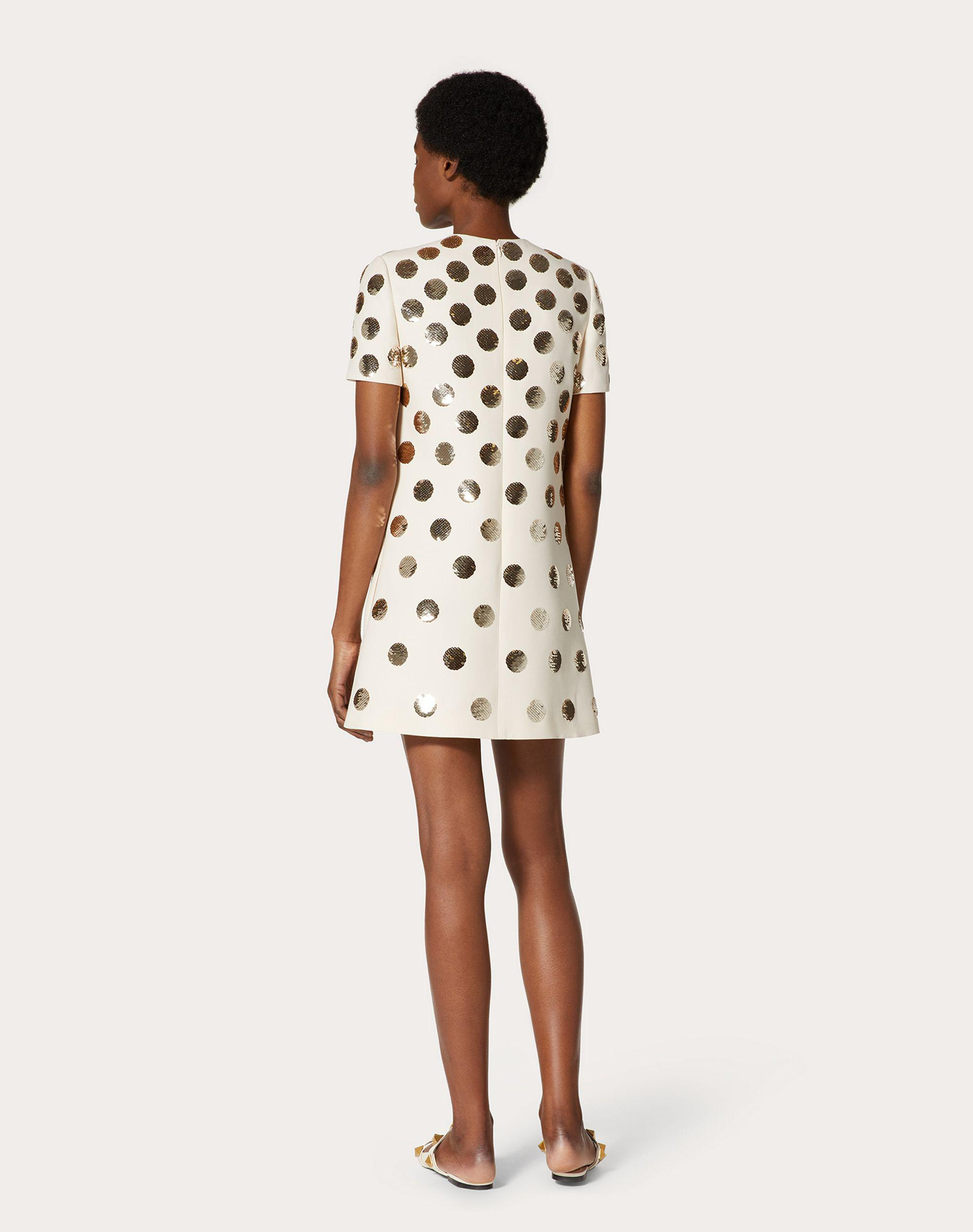 SHORT EMBROIDERED CREPE COUTURE DRESS 2