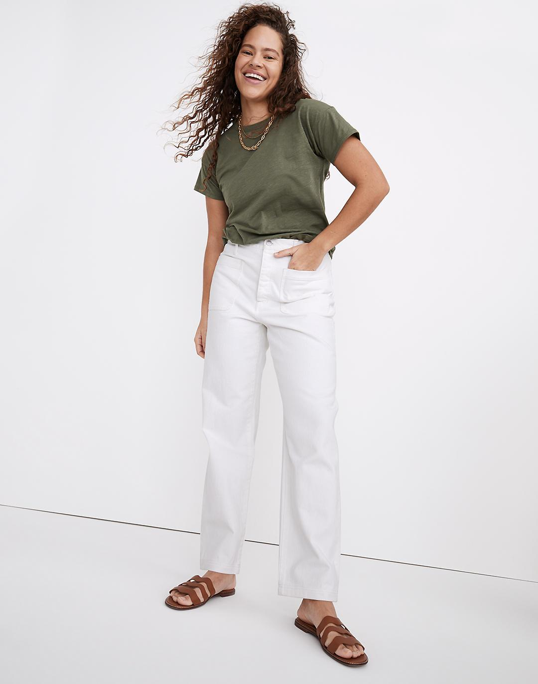 The Dadjean in Tile White: Patch Pocket Edition
