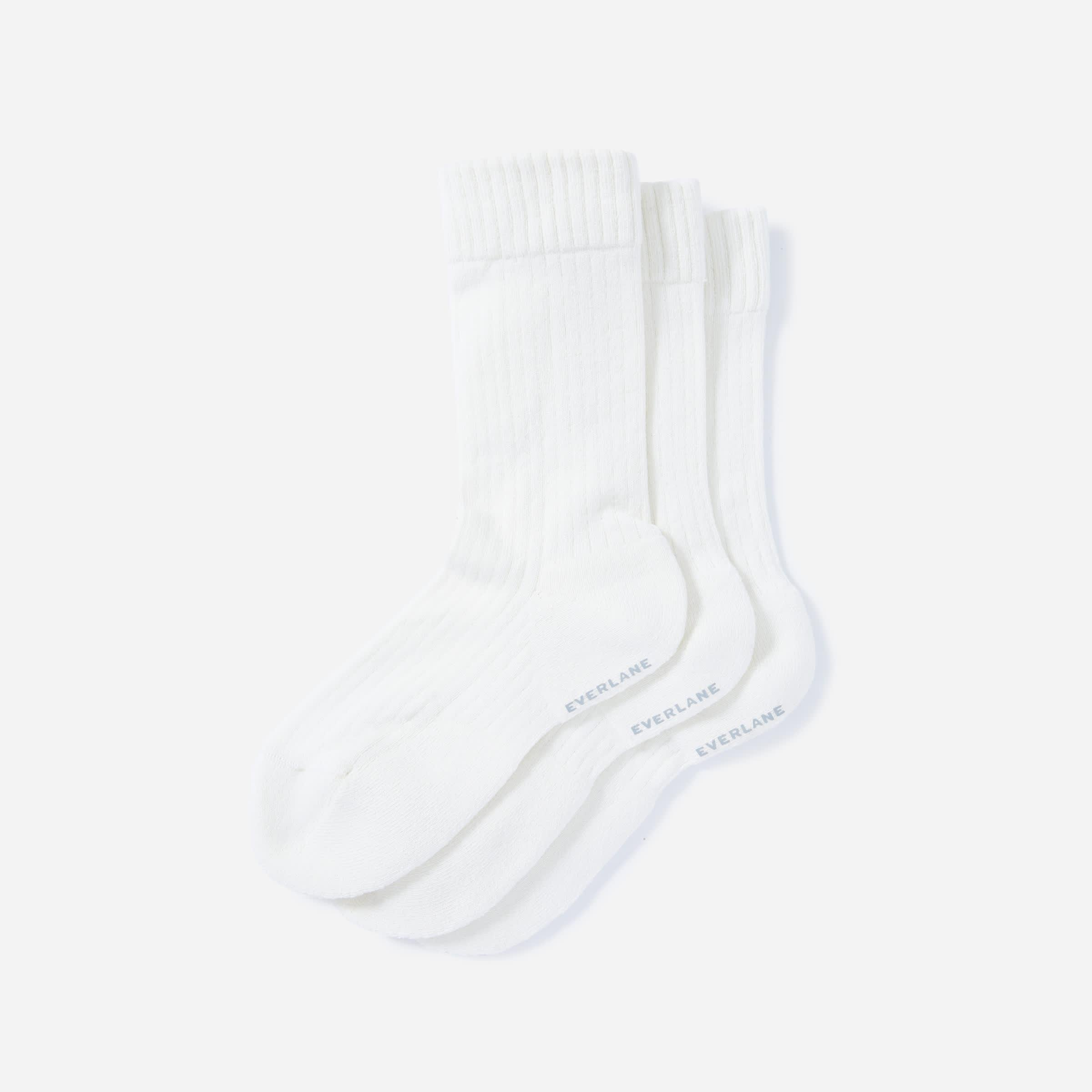 The Organic Cotton Ribbed Crew Sock 3-Pack