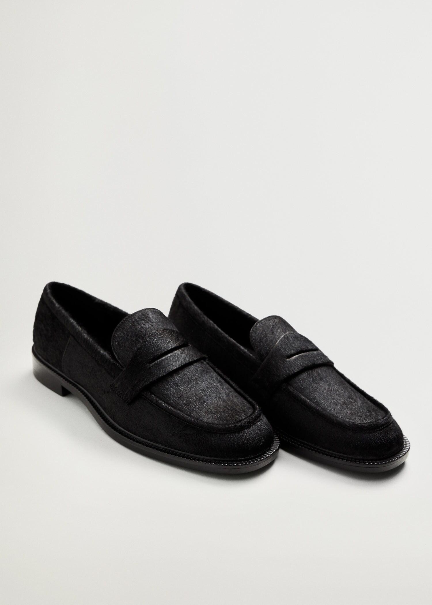 Fur leather loafers 1