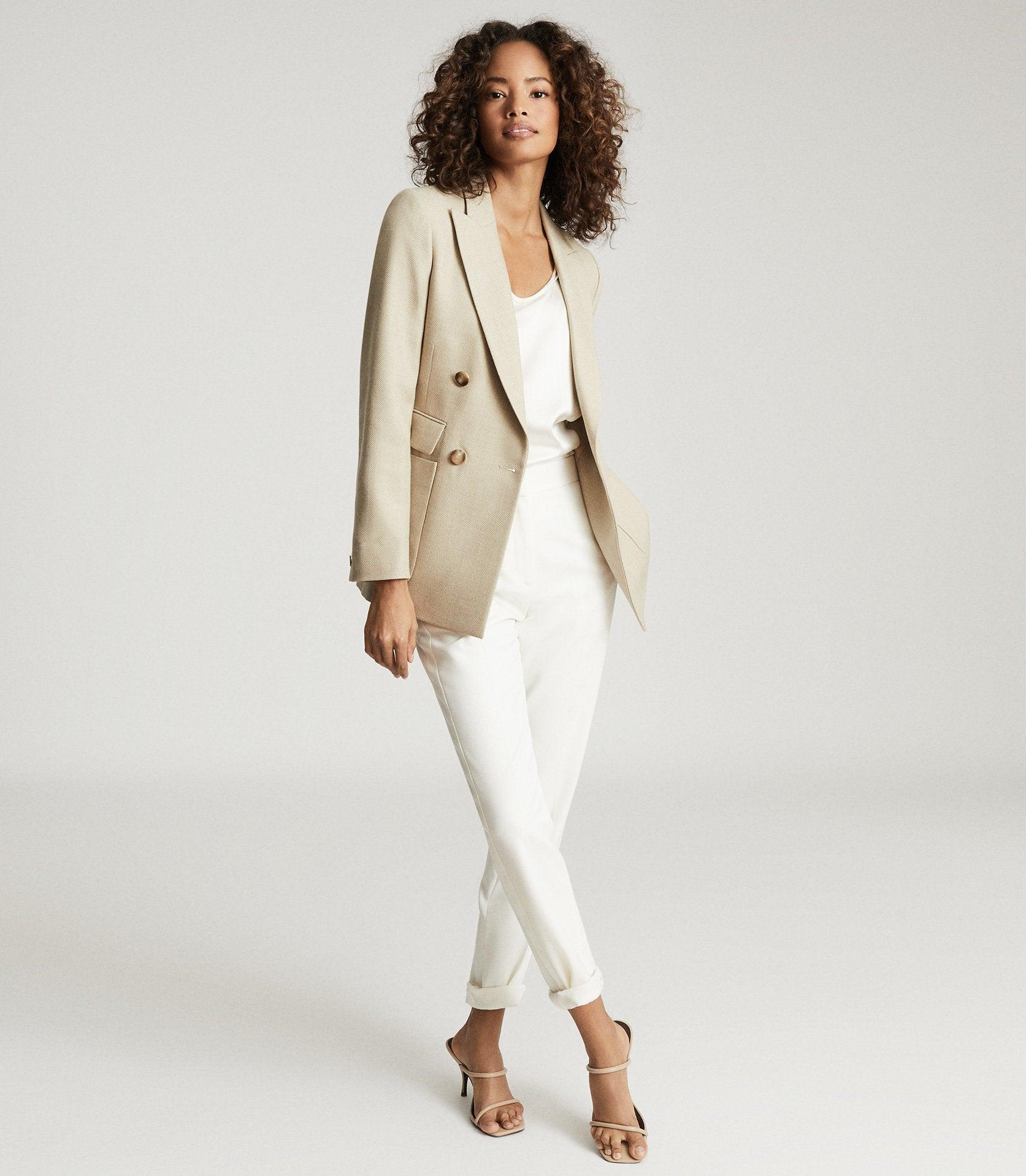 LARSSON - DOUBLE BREASTED TWILL BLAZER 3