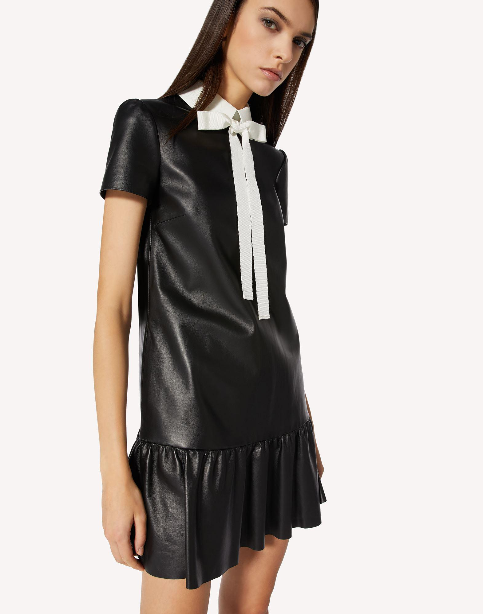 NAPPA LEATHER DRESS WITH COLLAR DETAIL 3