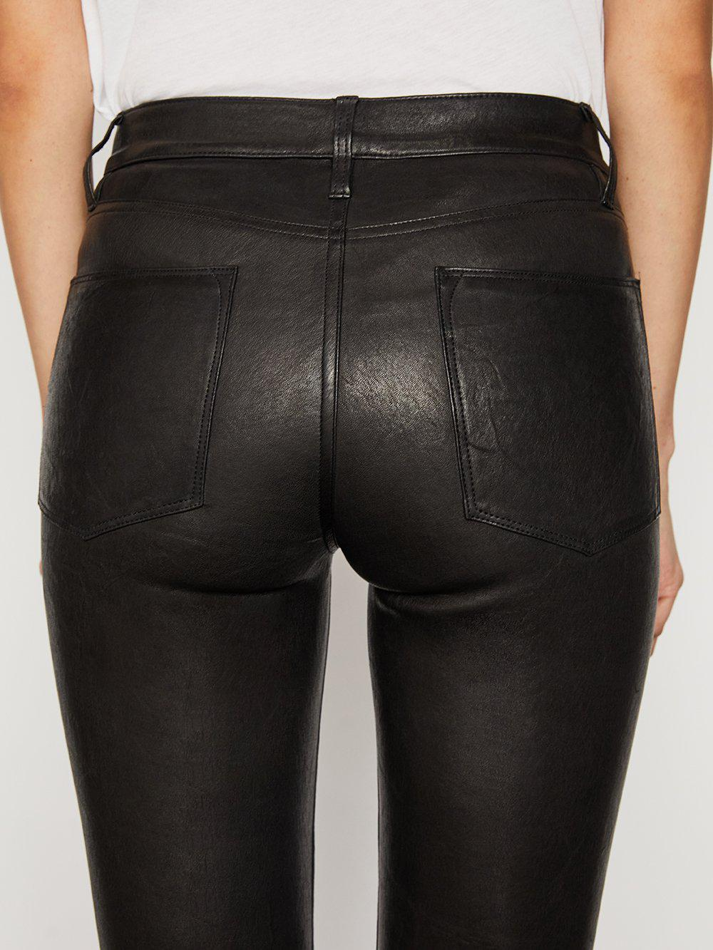Leather Le High Skinny -- Washed Black 4