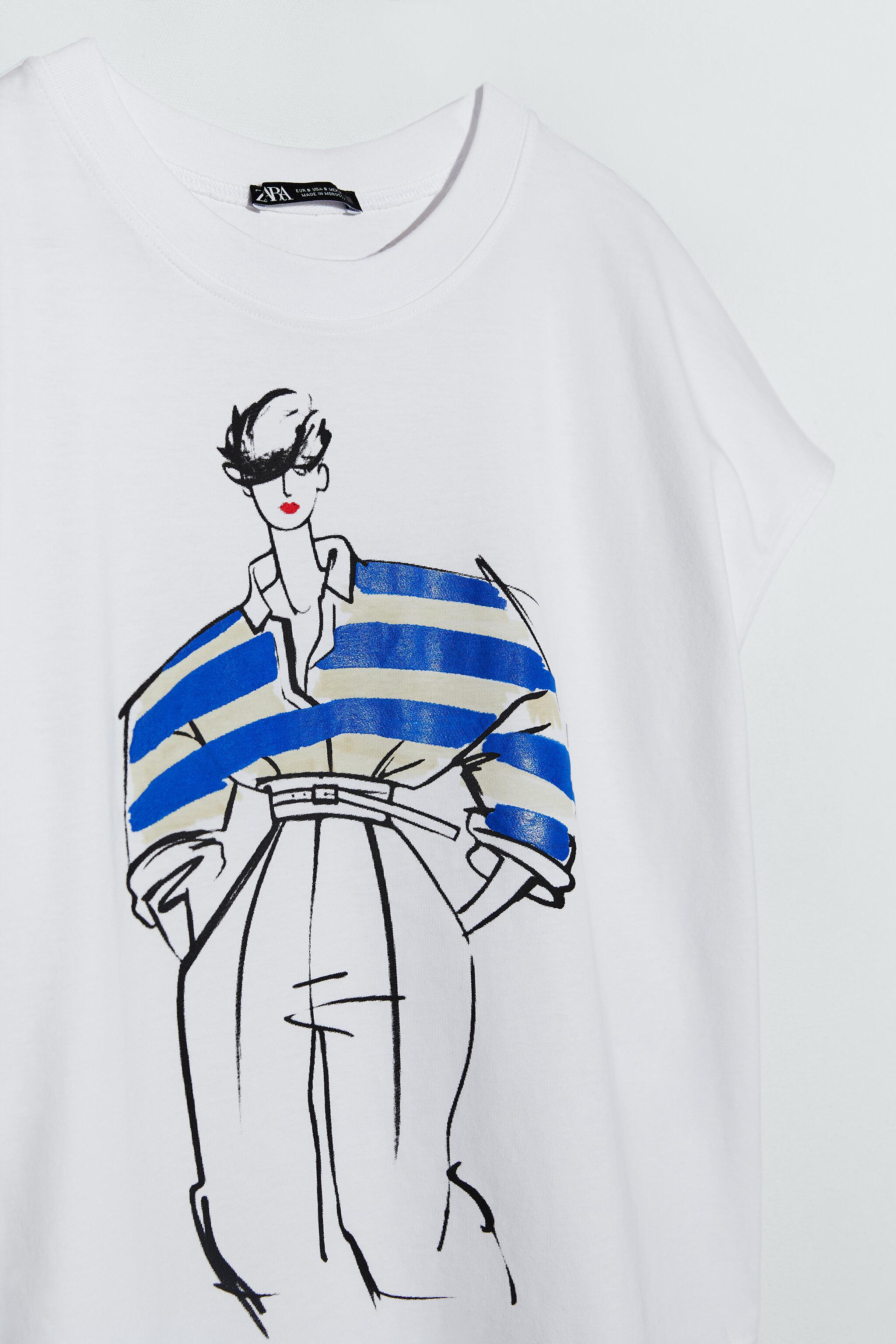T-SHIRT WITH WOMAN PRINT 5