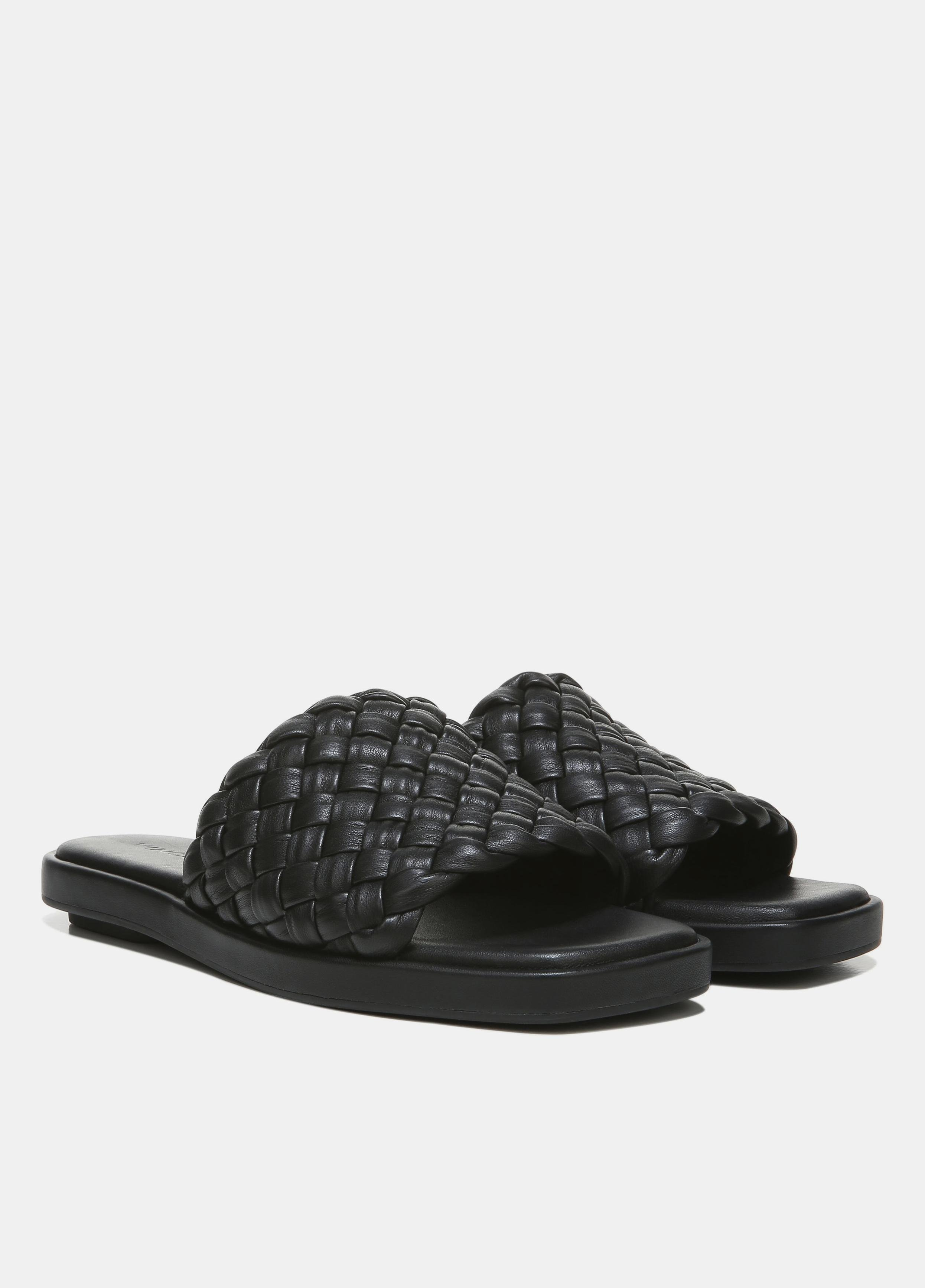 Rumi Woven Leather Slide 1