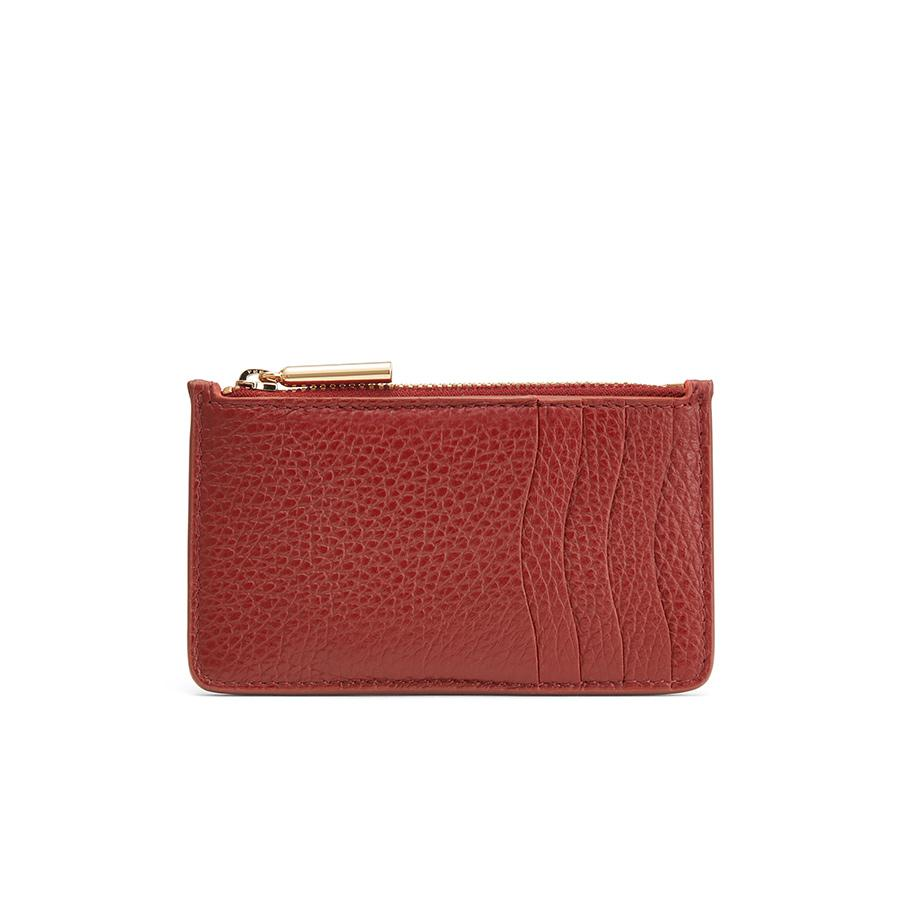 Women's Zip Cardholder in Rust | Pebbled Leather by Cuyana