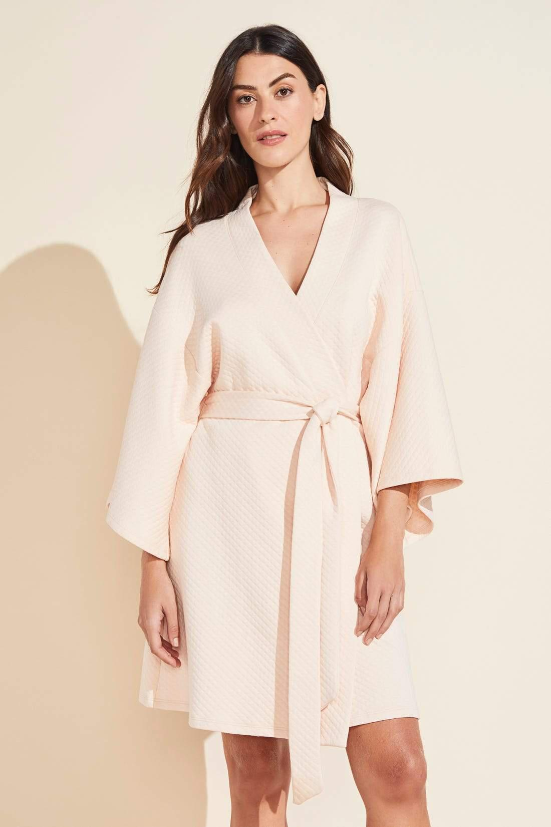 Zen Quilted Cotton Spa Robe - Shell