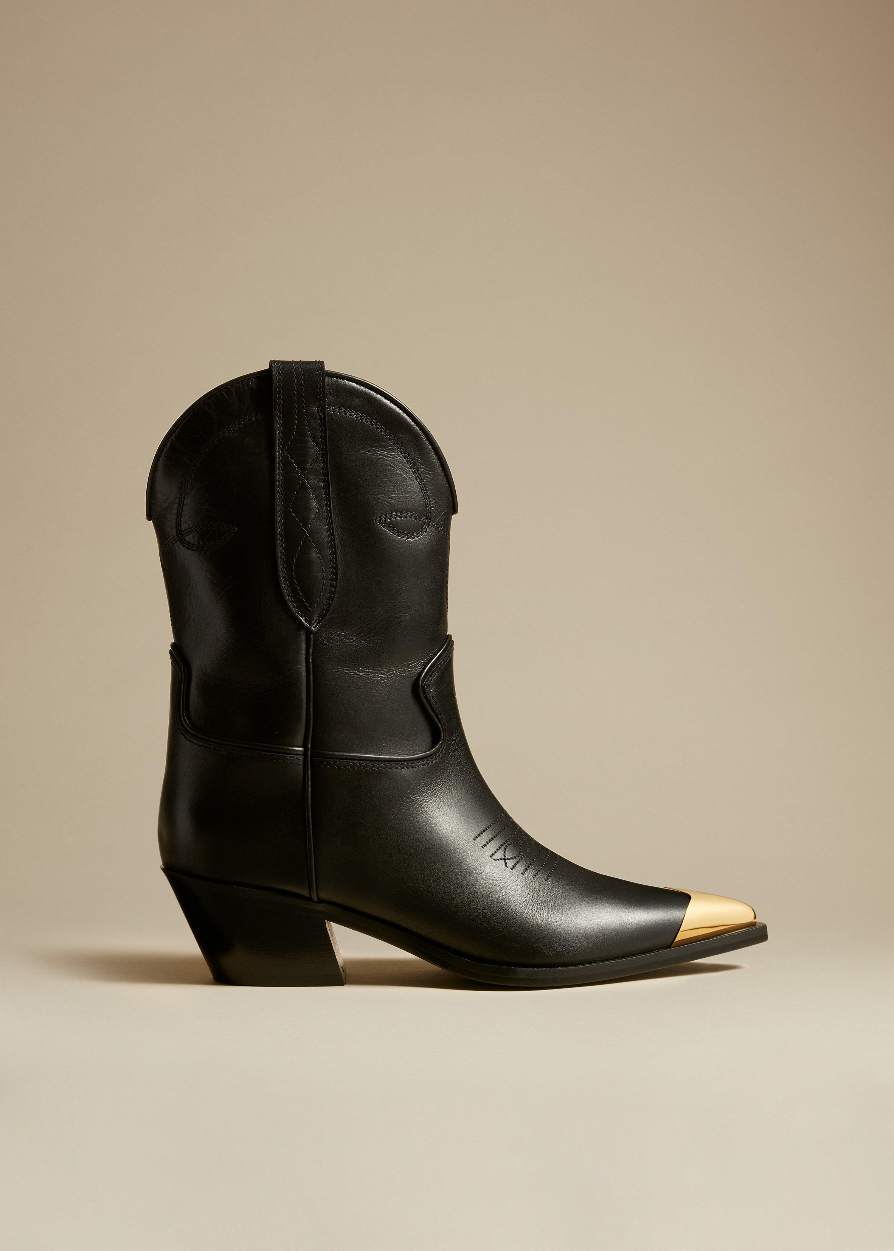 The Fontana Ankle Boot in Black Leather