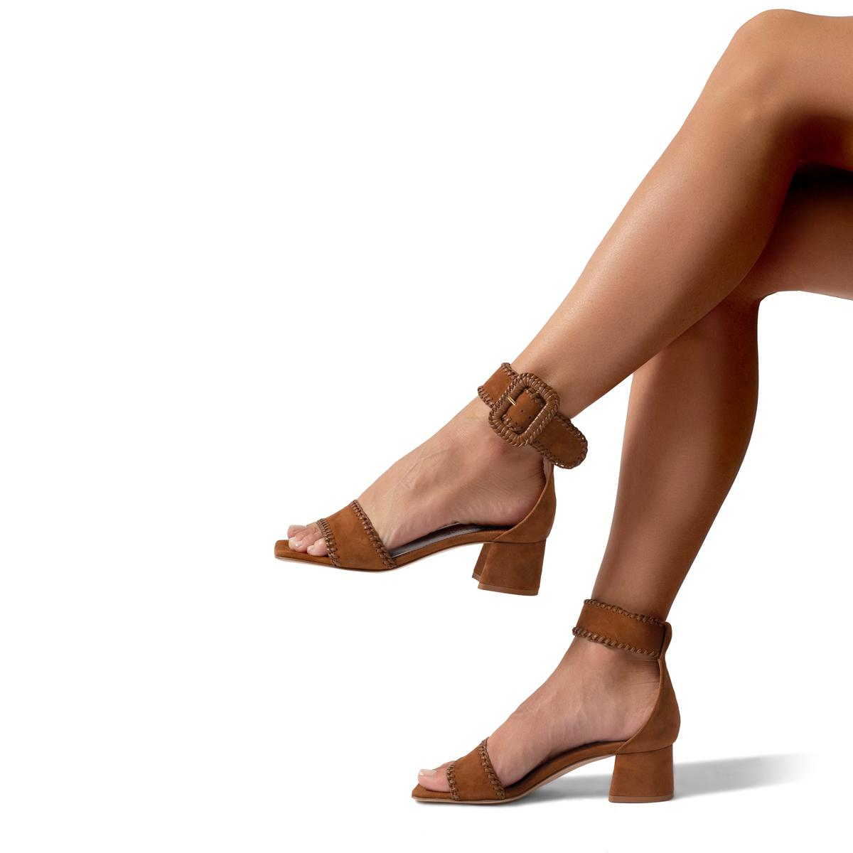 Isabelle | Suede Sandal With Block Heel 4