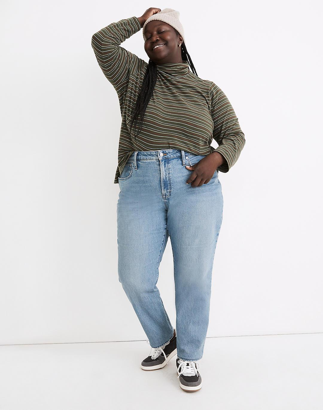 The Plus Curvy Perfect Vintage Straight Jean in Hoye Wash