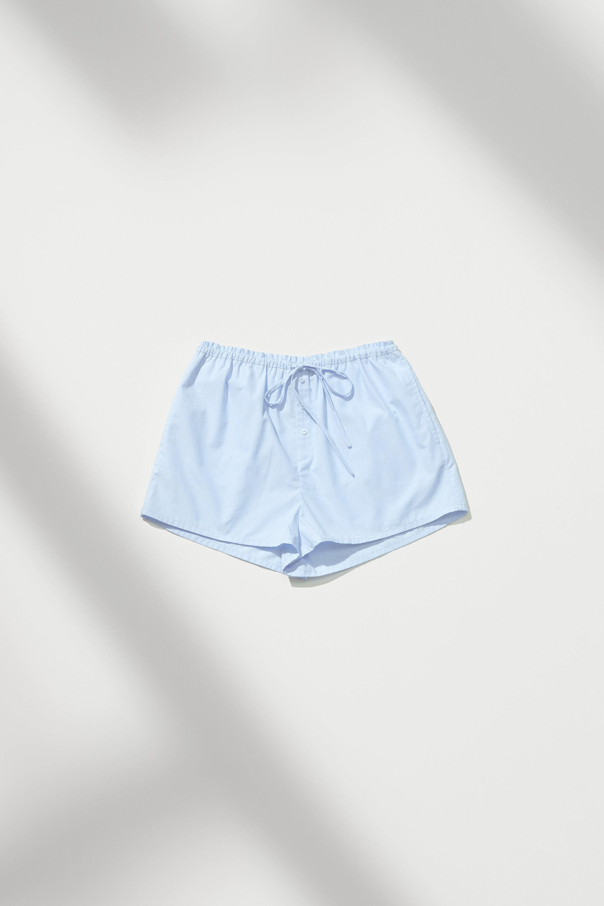 BUTTONED PAJAMA SHORTS 1