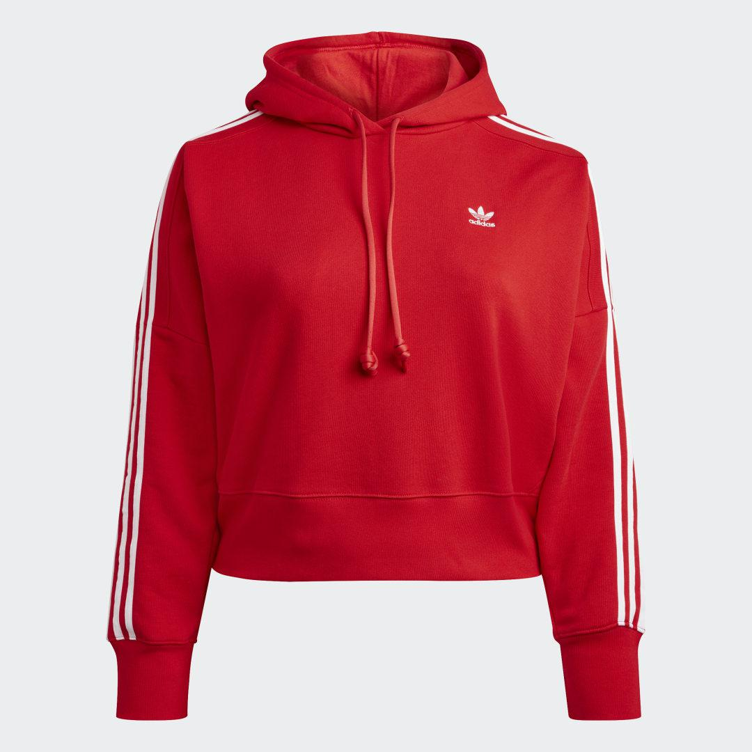 Adicolor Classics Cropped Hoodie (Plus Size) Red 7