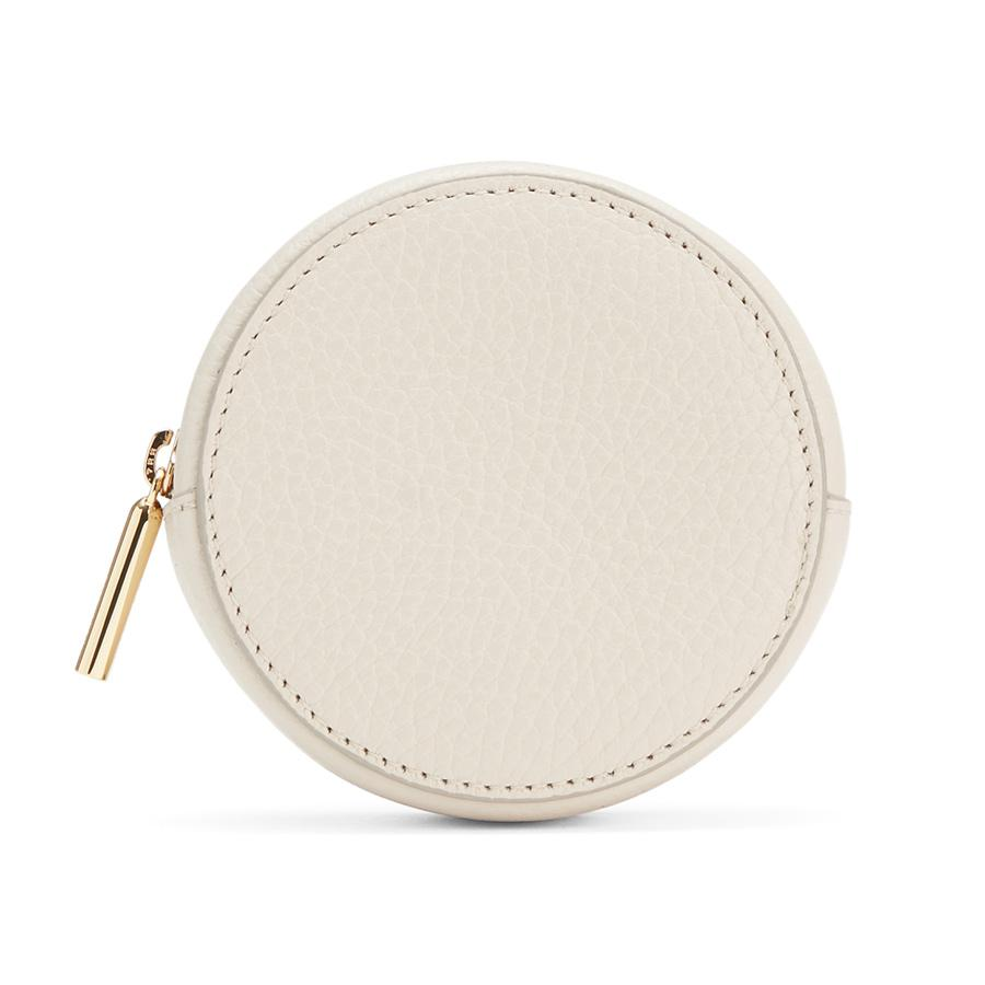 Women's Circle Pouch Add-On in Ecru | Pebbled Leather by Cuyana