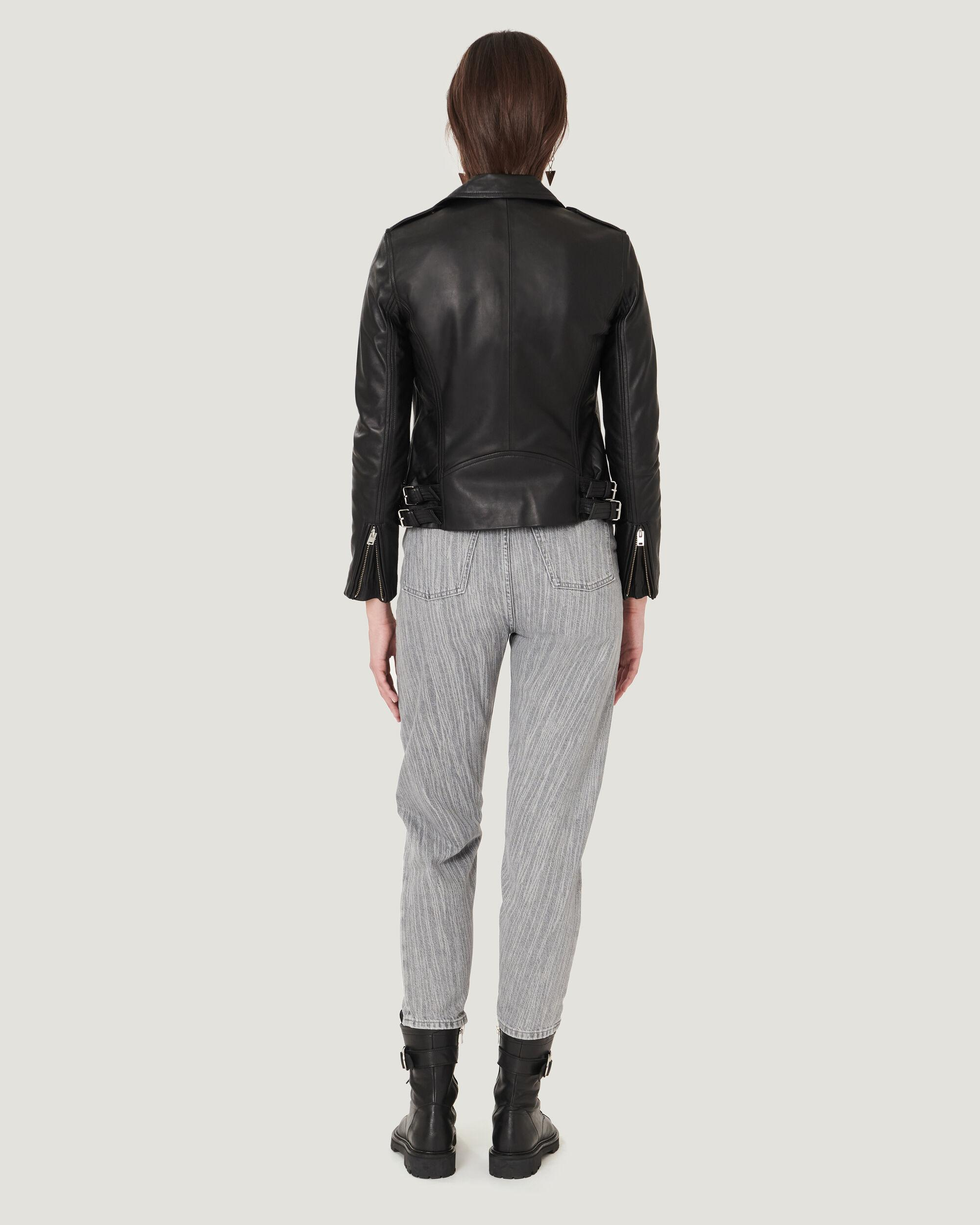 HAN LEATHER FITTED BIKER JACKET 2
