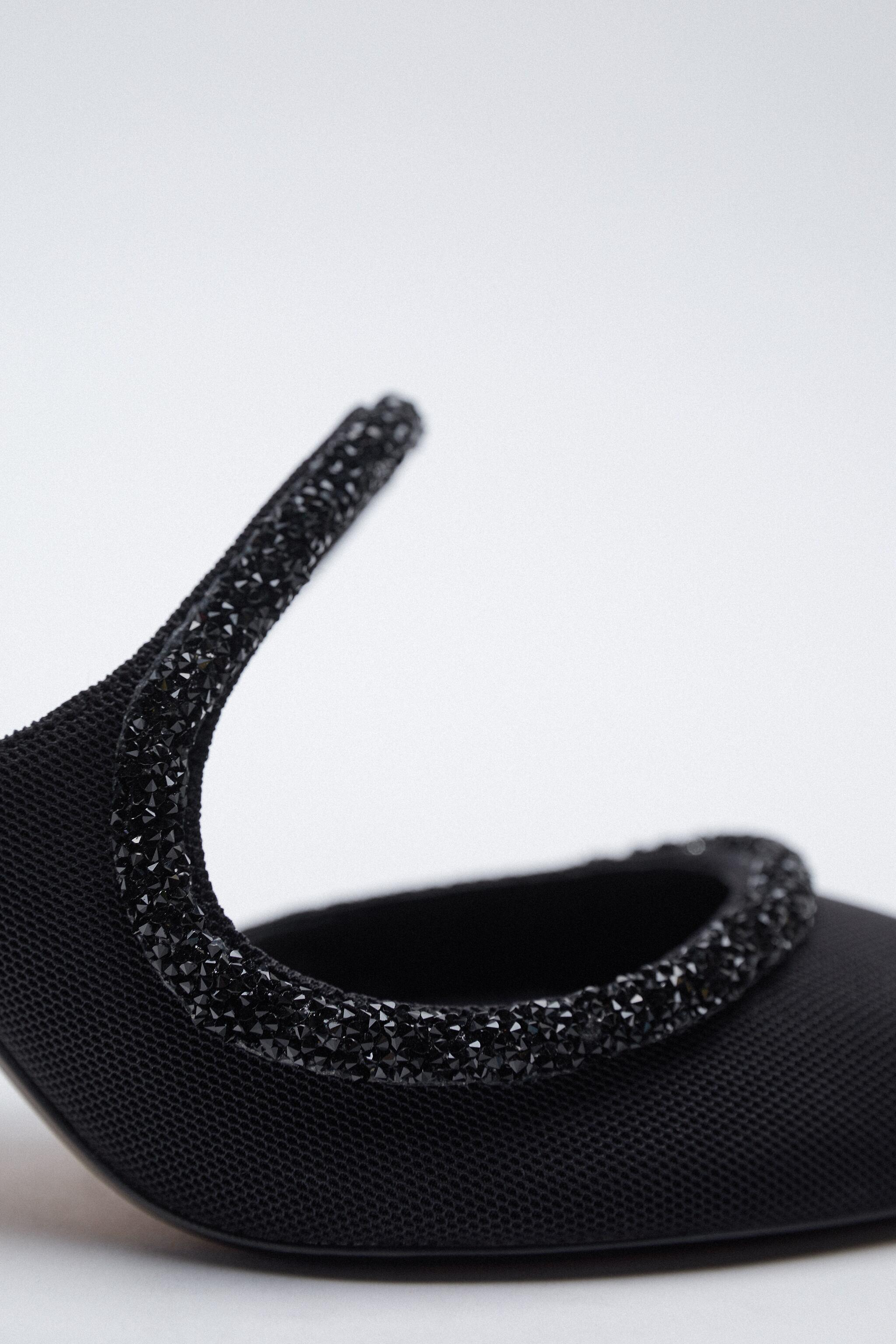 SPARKLY POINTED TOE HEELED SHOES 5