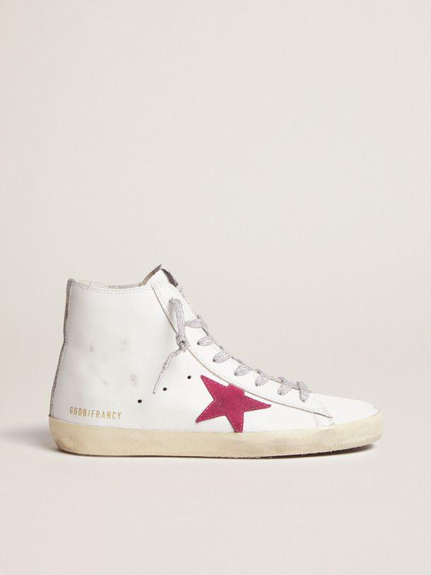 Francy sneakers with red star and camouflage insert