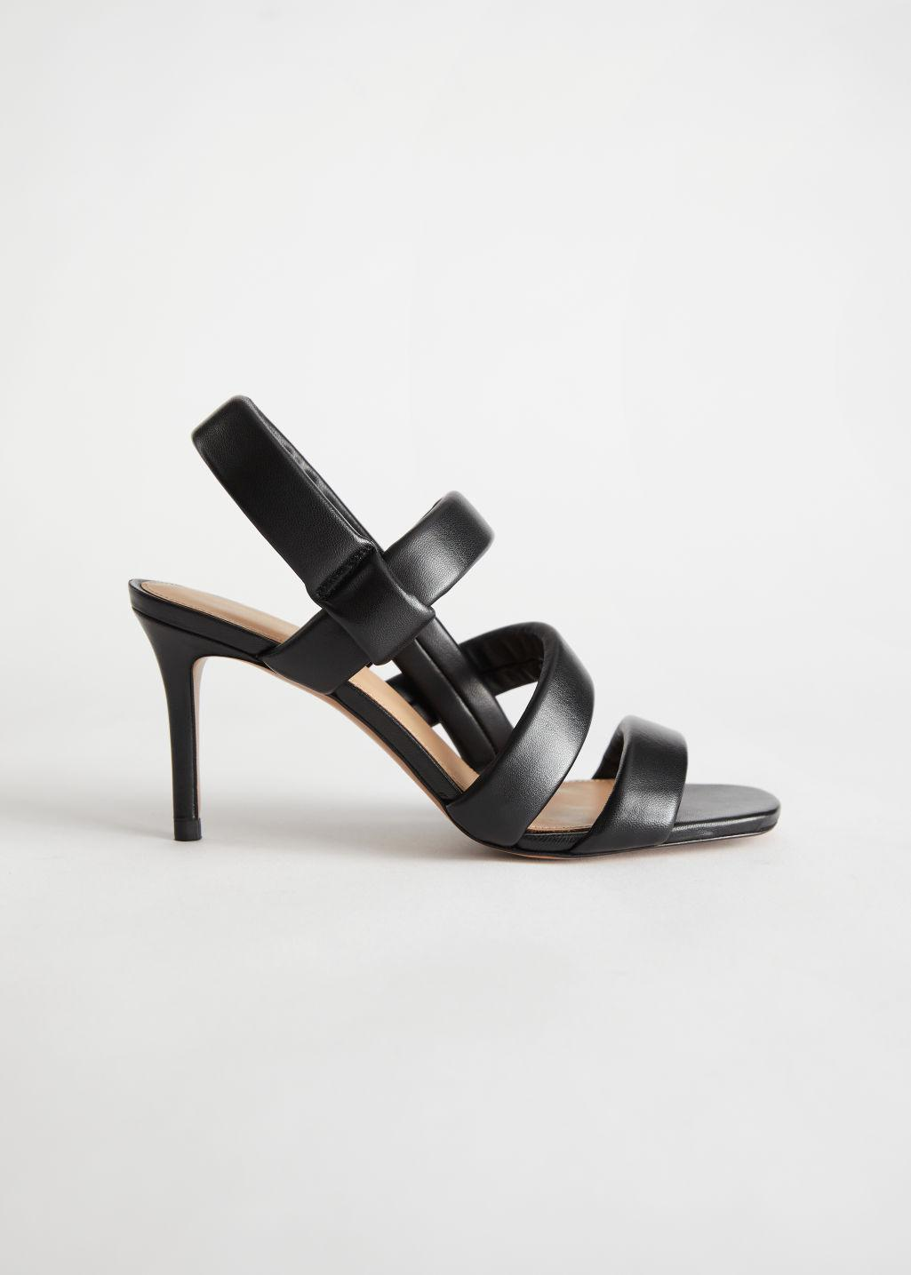 Padded Leather Heeled Sandals