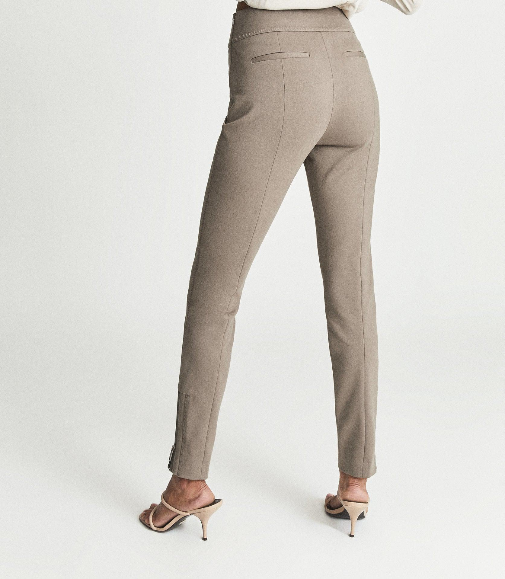 ISLA - PONTE TROUSERS WITH ZIP DETAIL 3