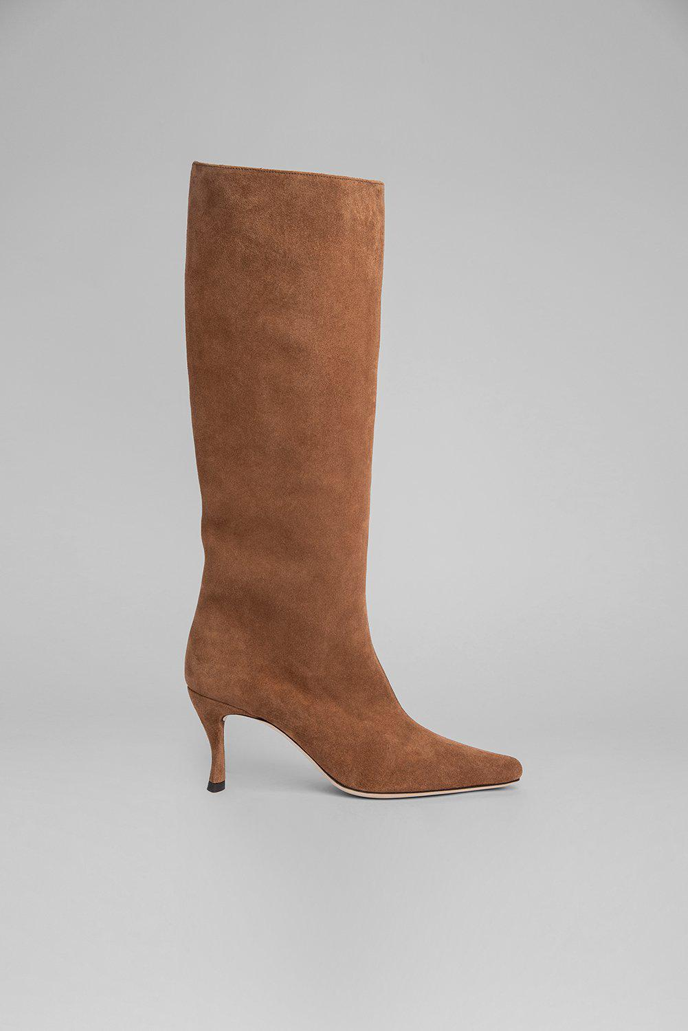 Stevie 42 Brown Suede Leather