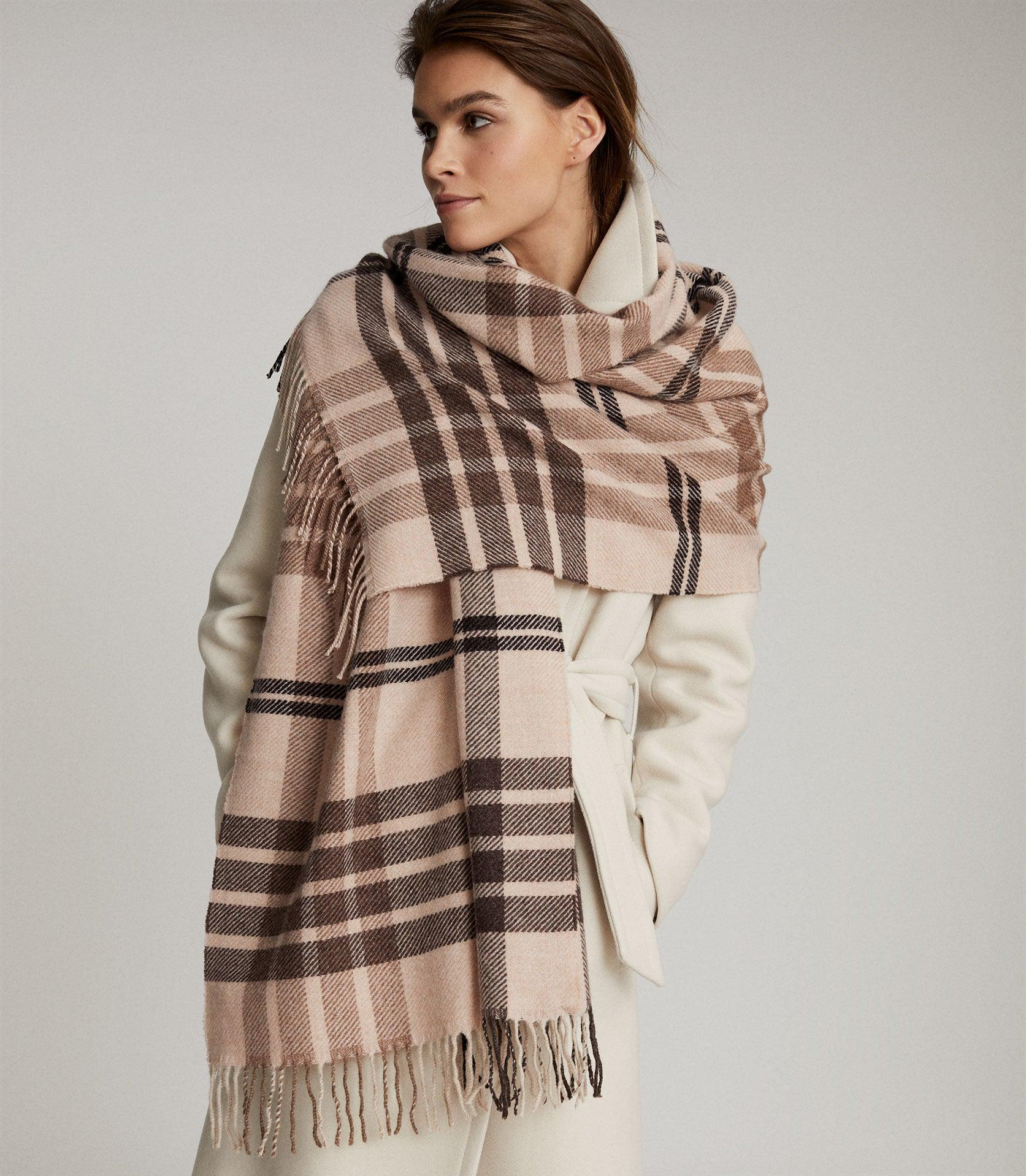 STEPH - WOOL CHECKED SCARF 2