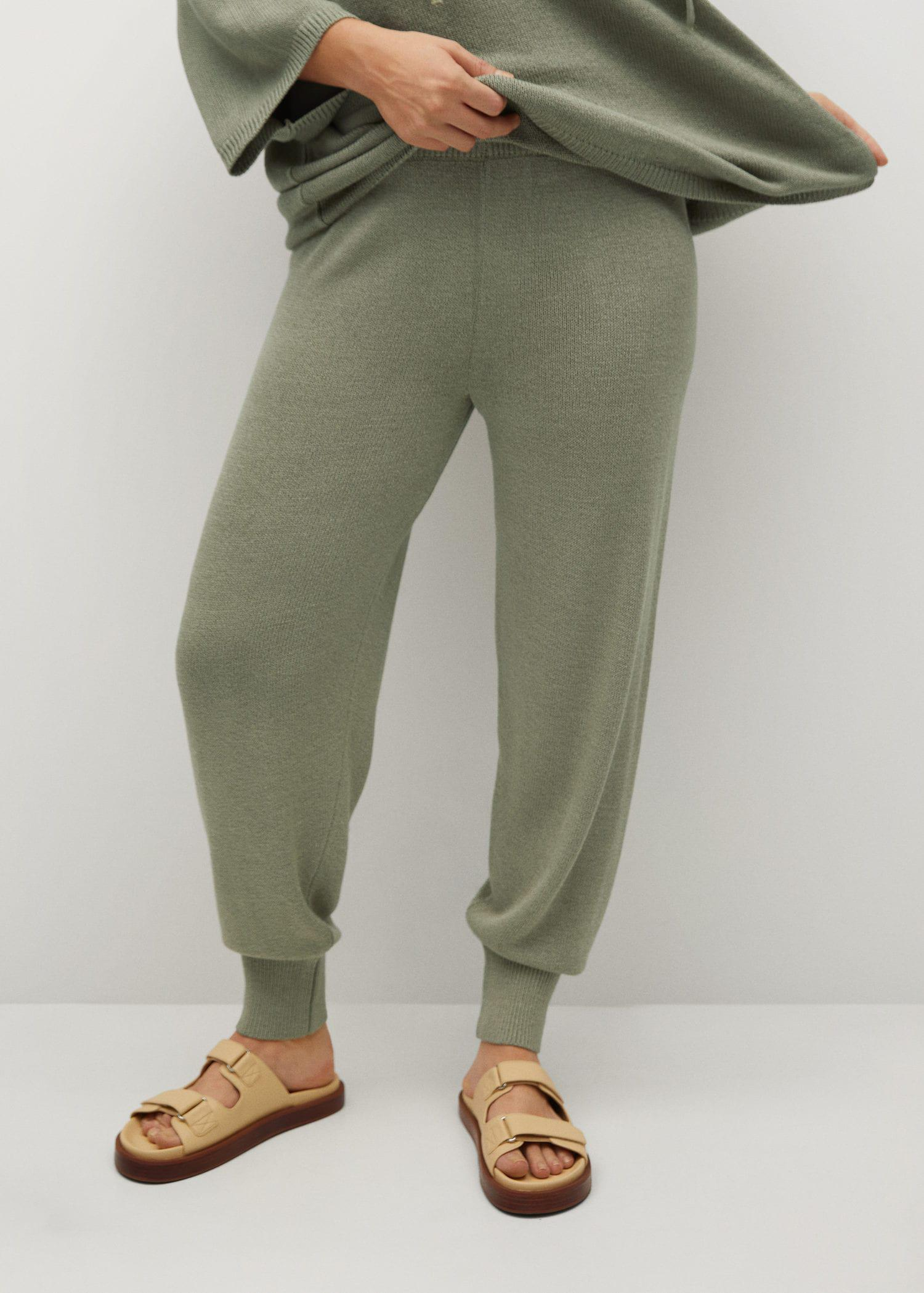 Baggy knit trousers 1