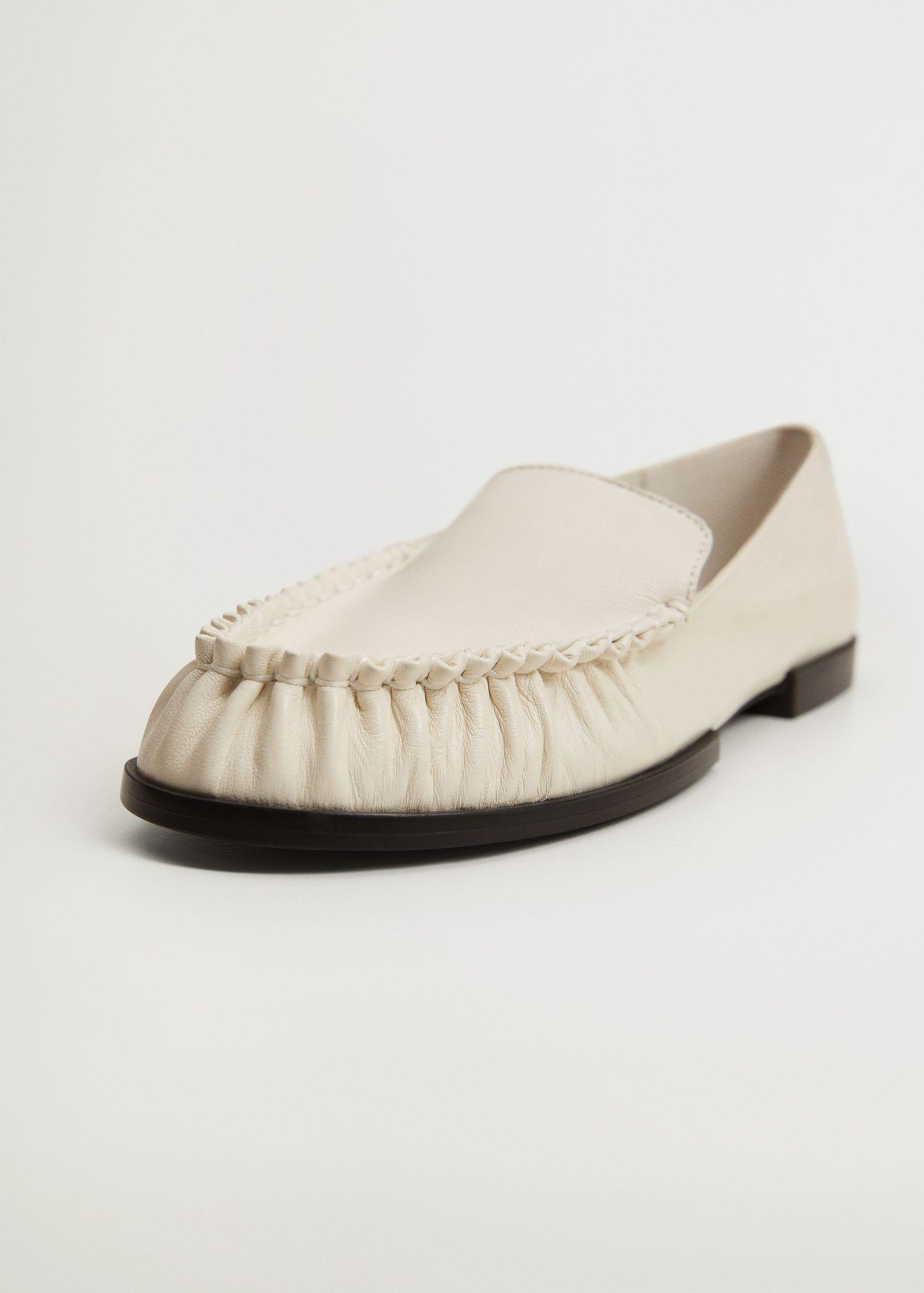 Gathered leather moccasin 2