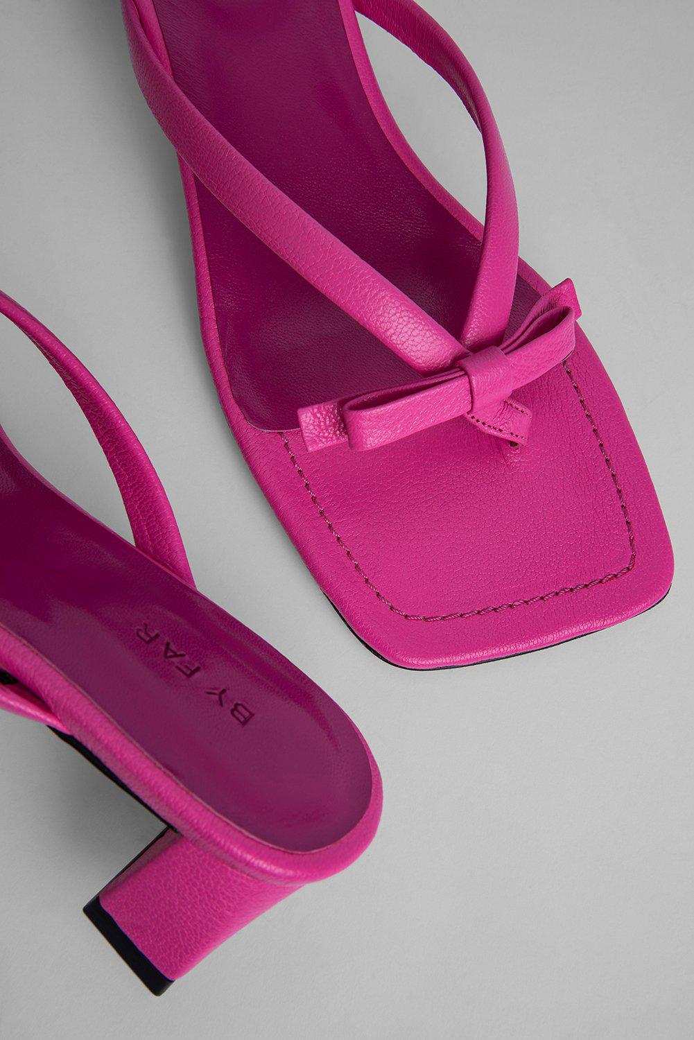 Bibi Hot Pink Grained Leather 2