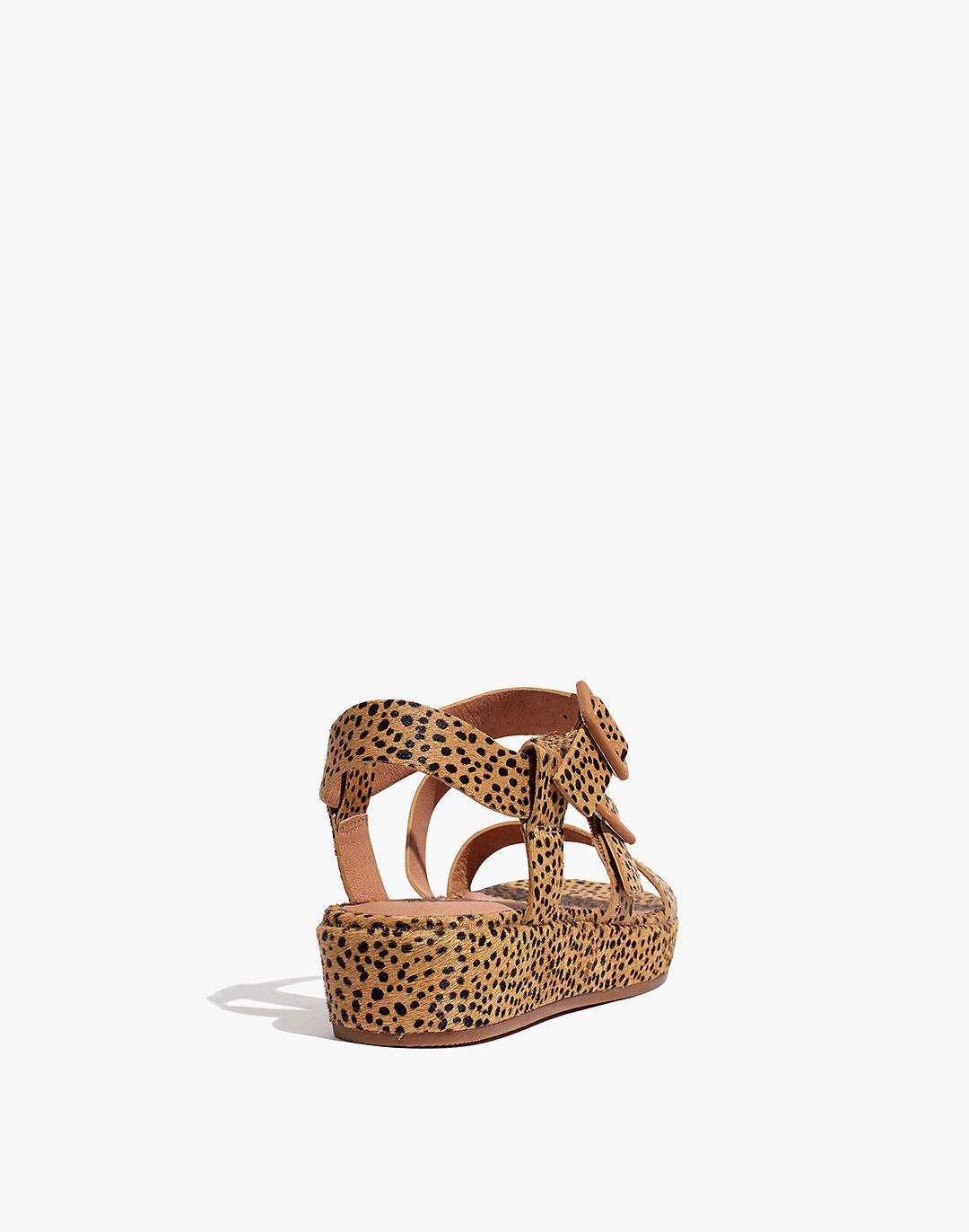 The Robin Platform Sandal in Spotted Calf Hair 2