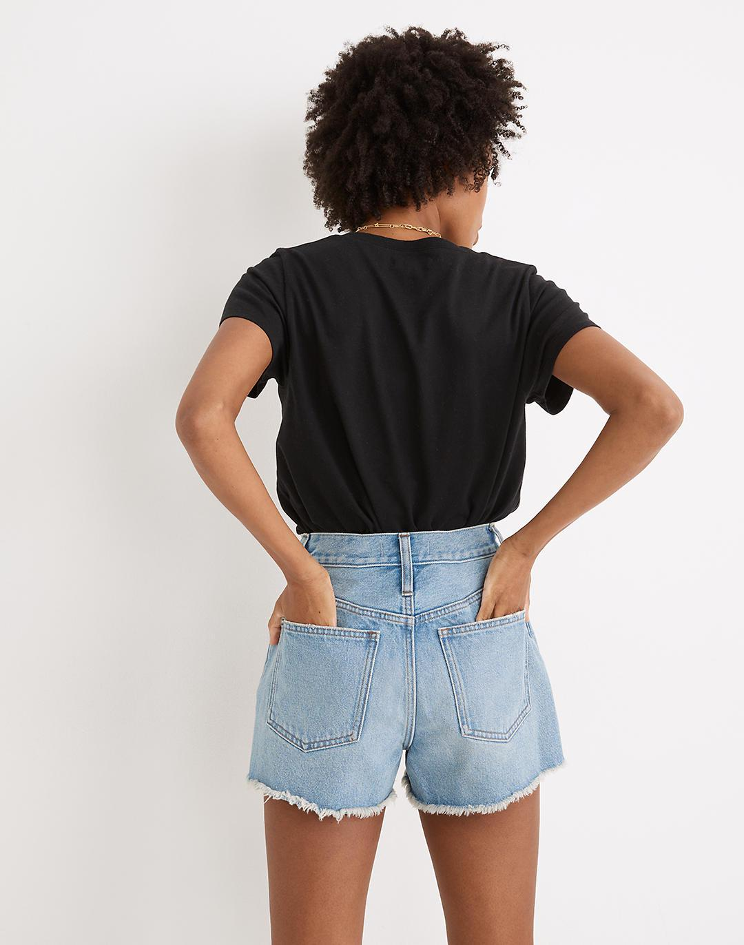 The Perfect Jean Short in Hedrick Wash 2