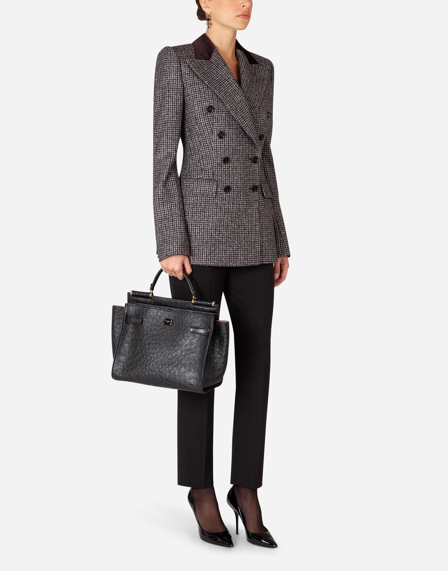 Double-breasted tweed blazer 3