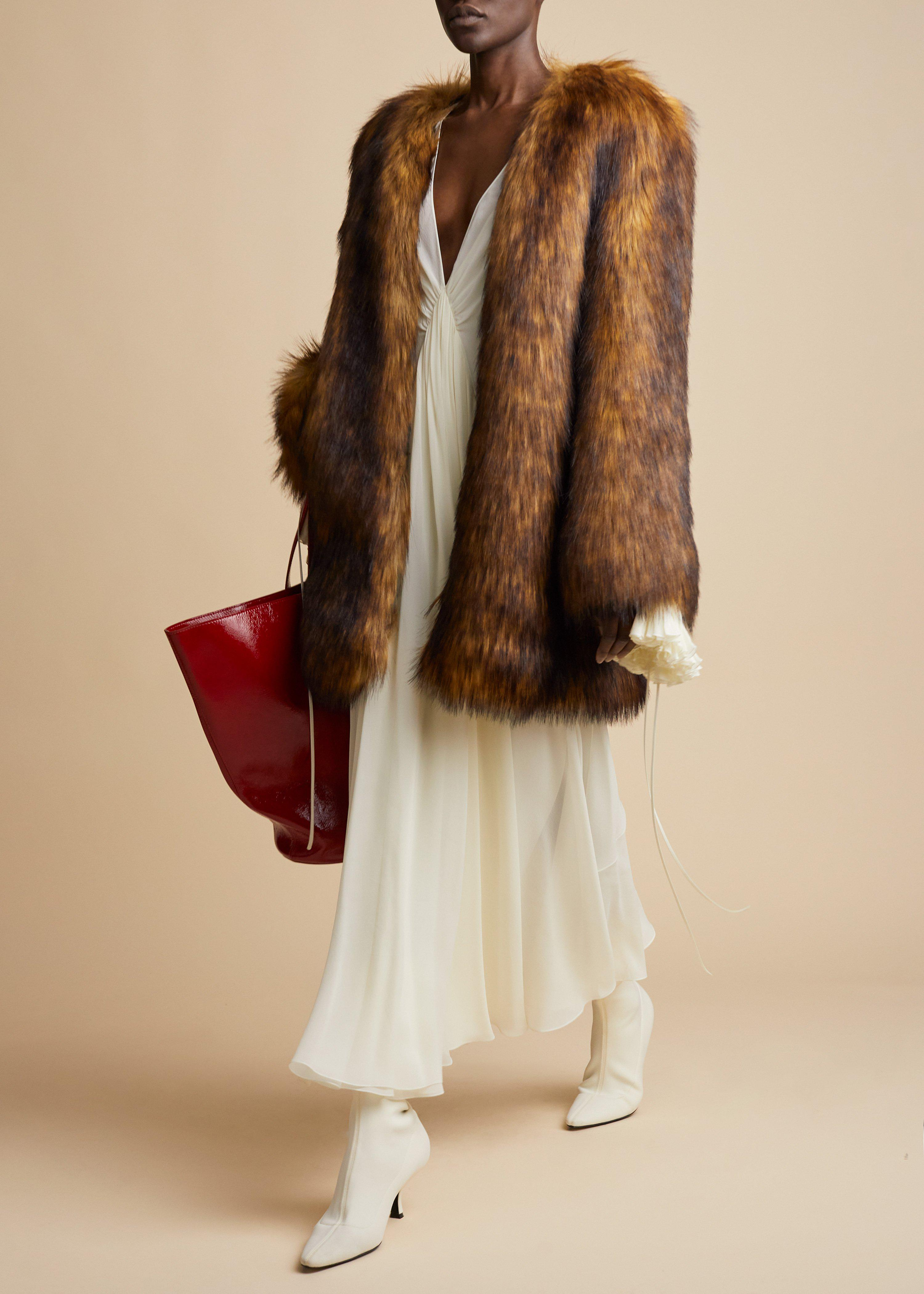 The Remy Coat in Brown