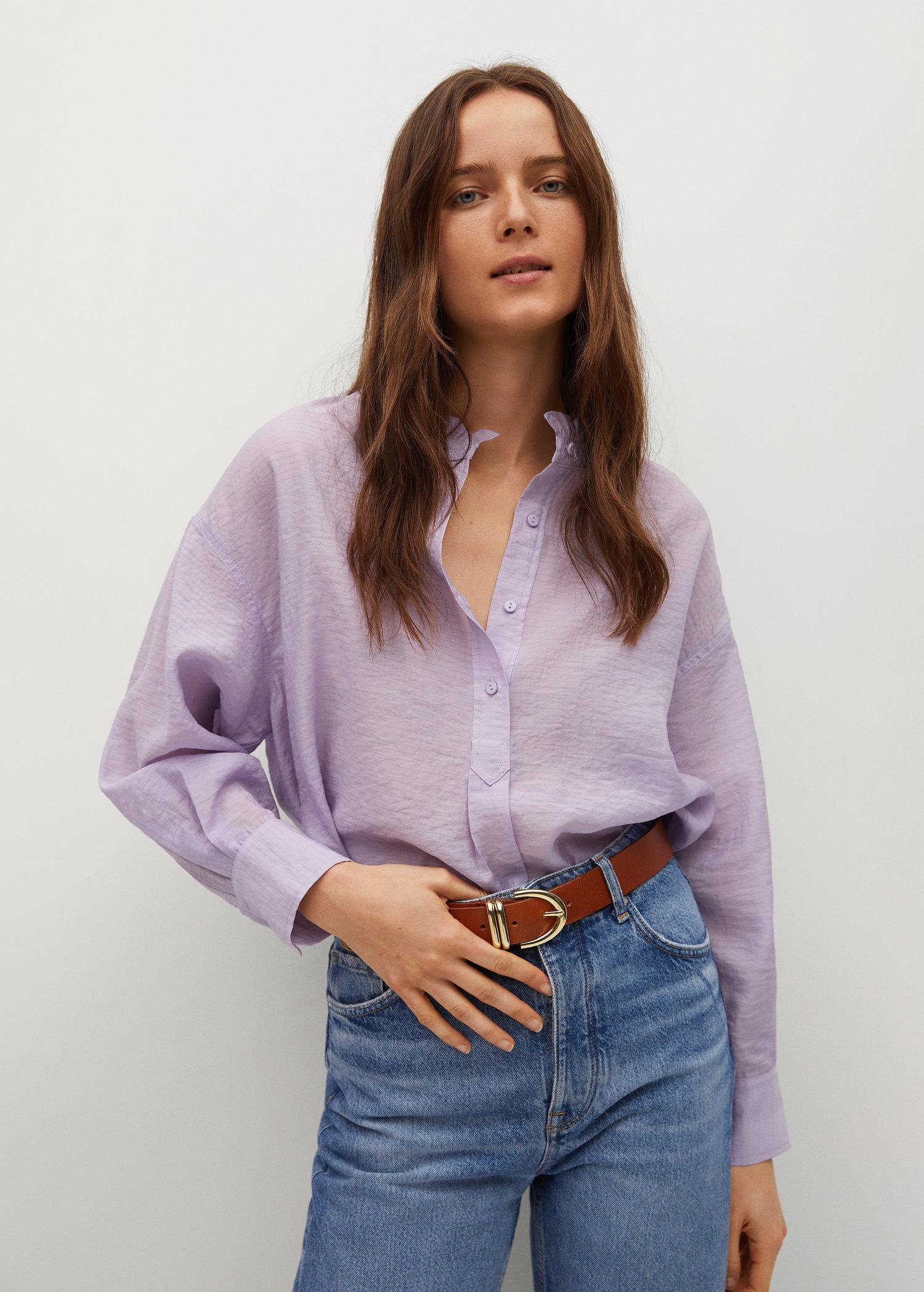 Textured flowy blouse 0
