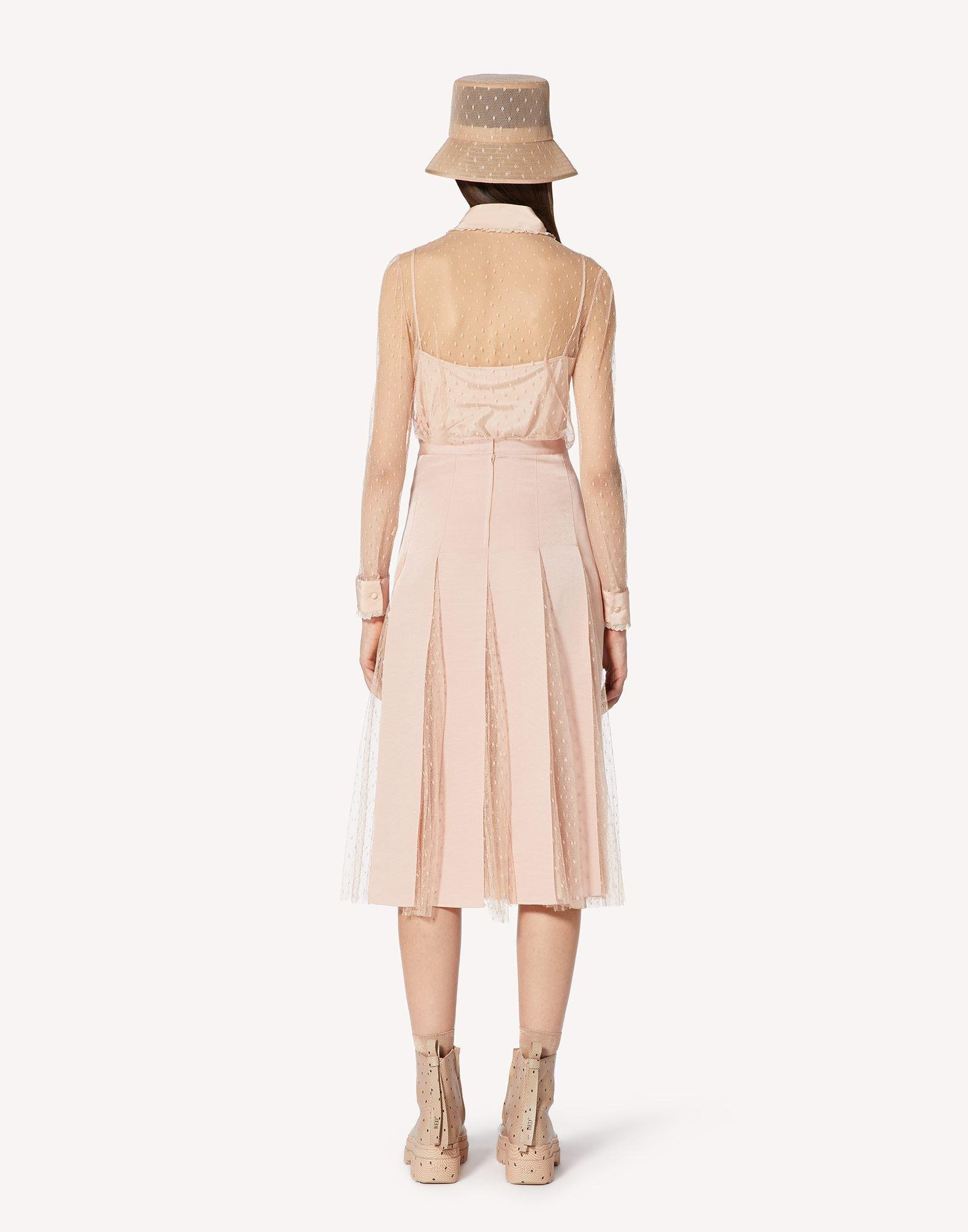POINT D'ESPRIT TULLE SKIRT WITH GROSGRAIN RIBBONS 1