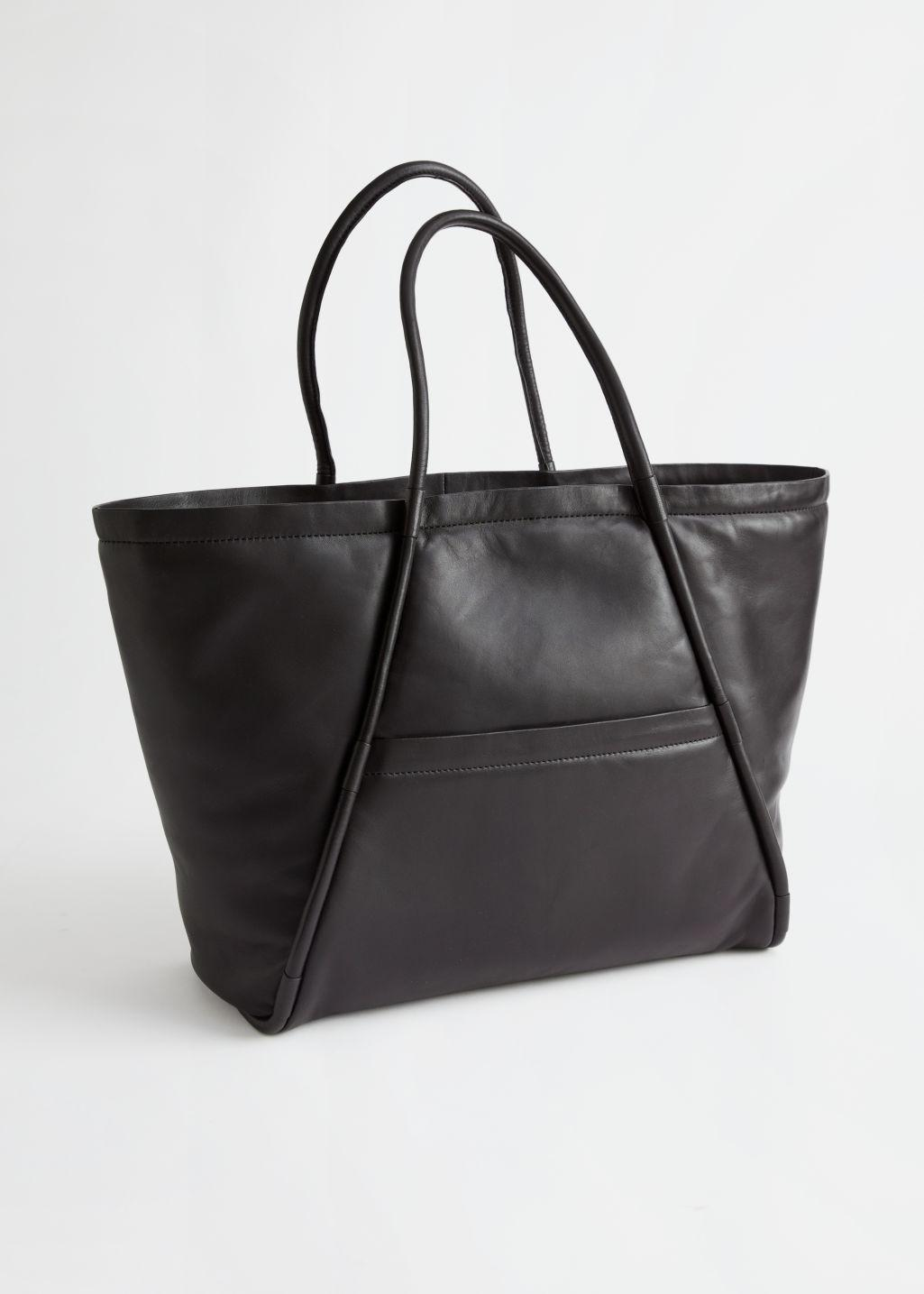 Padded Leather Tote Bag