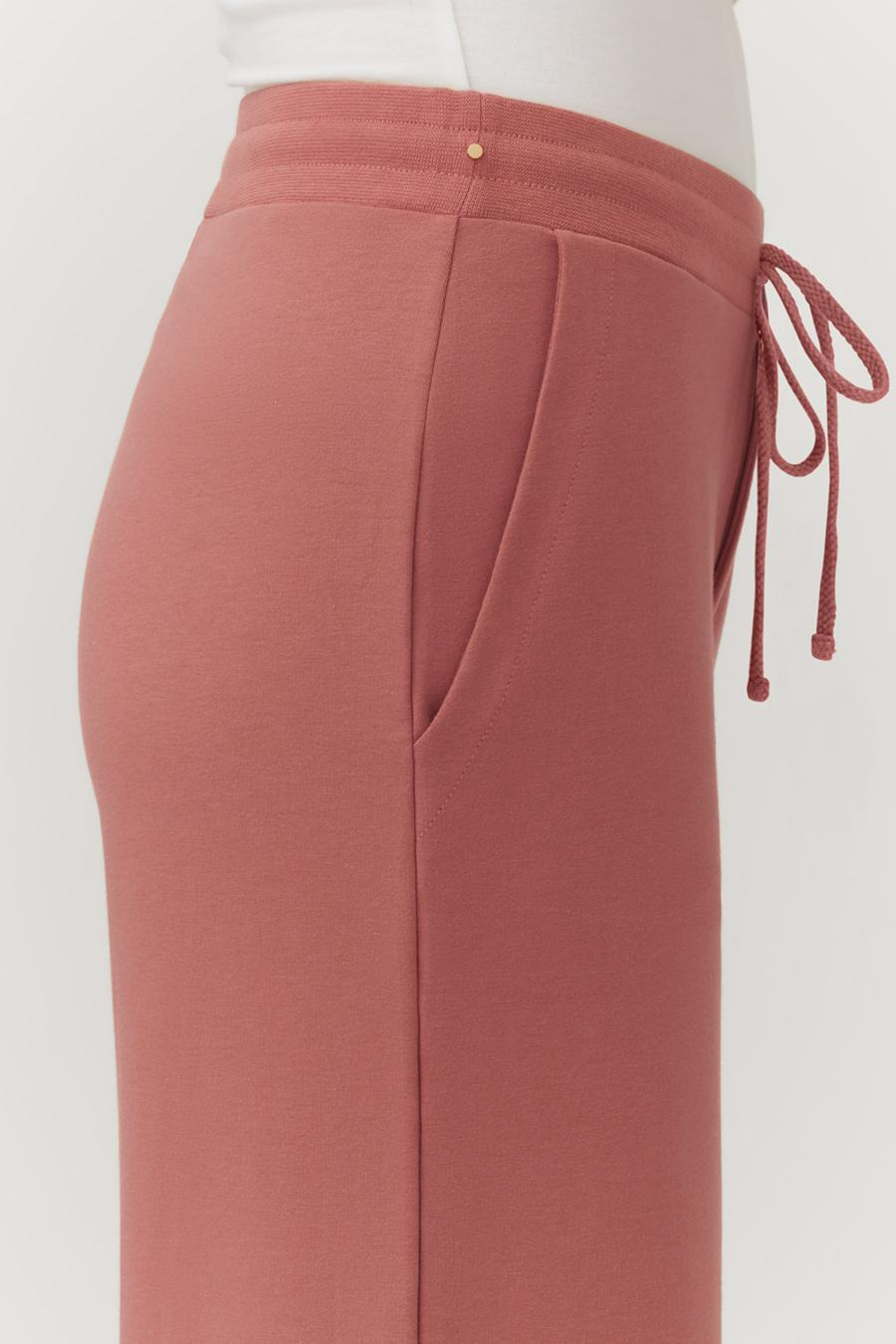 Women's French Terry Wide-Leg Cropped Pant in Passion Fruit   Size: 3