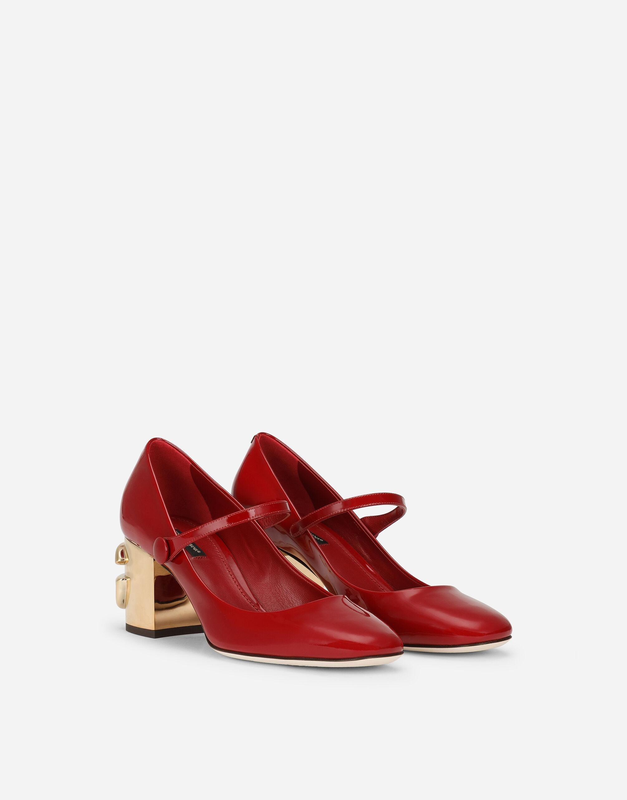 Patent leather Mary Janes with DG Karol heel 1