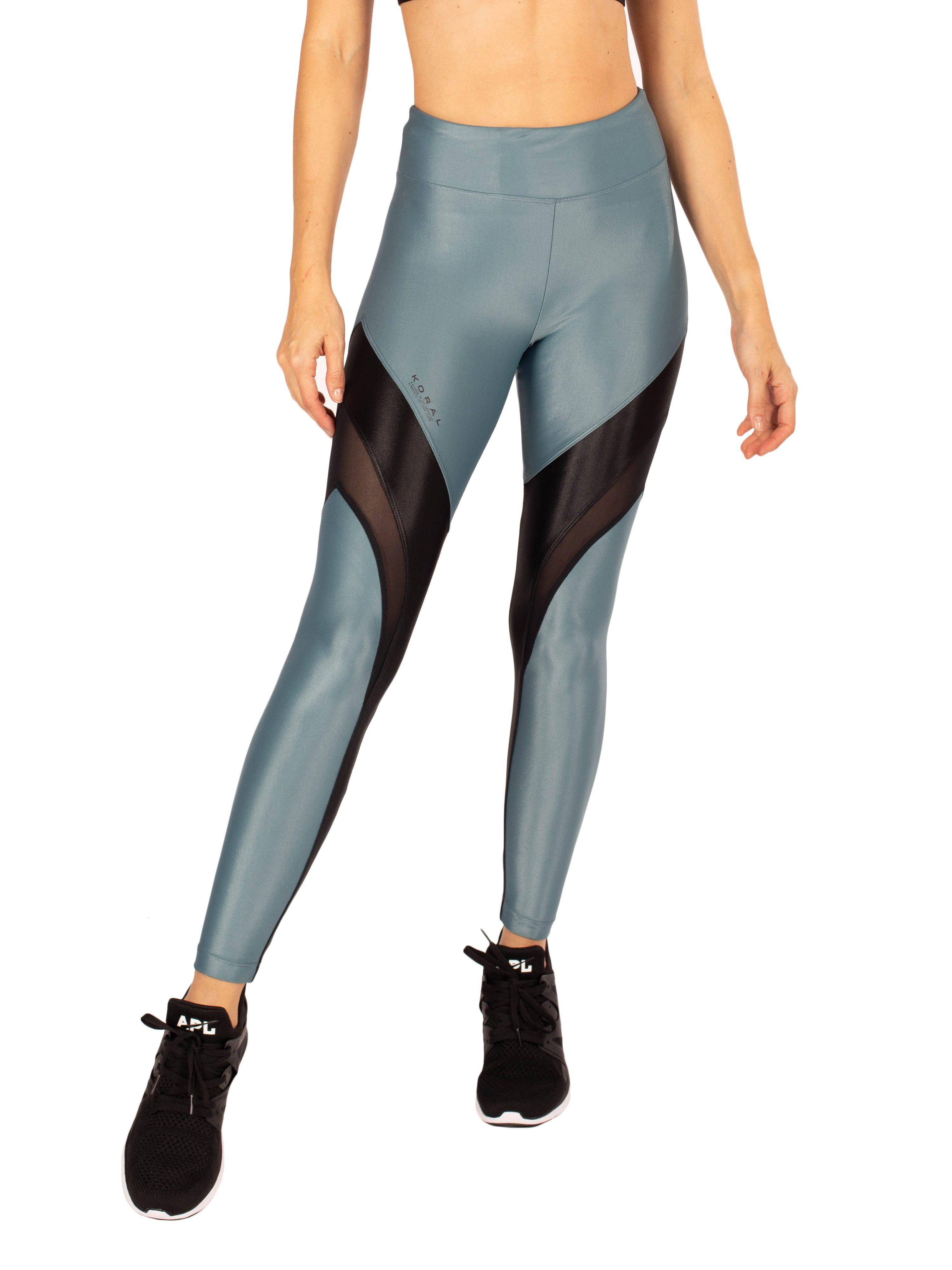Frame High Rise Infinity Legging - Teal with Black