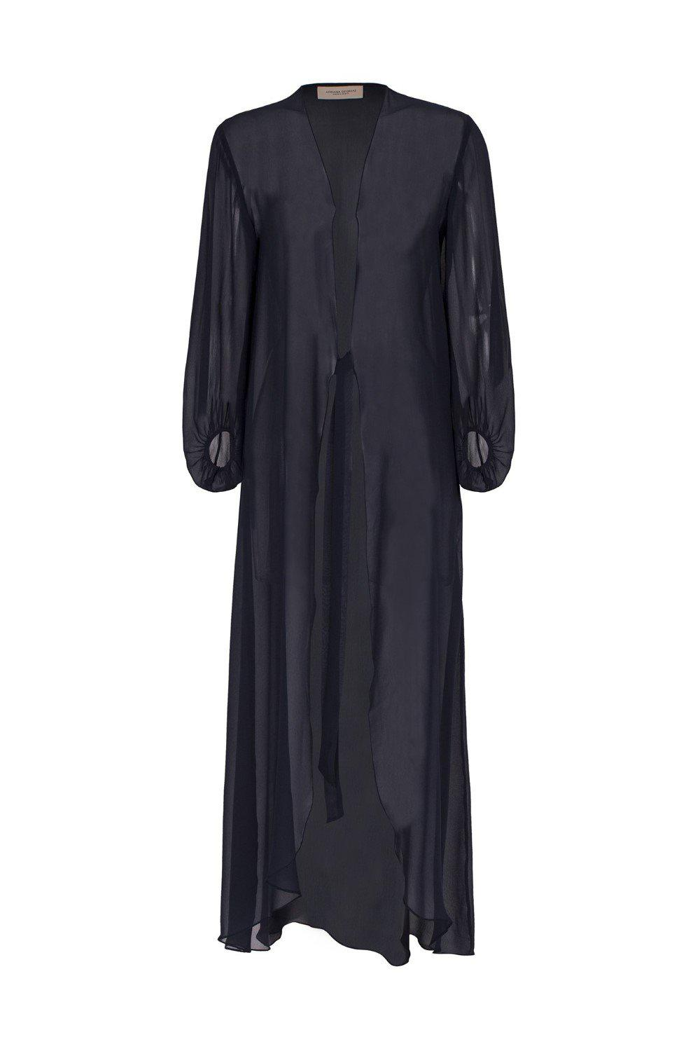 Cacao Pois Solid Long Robe