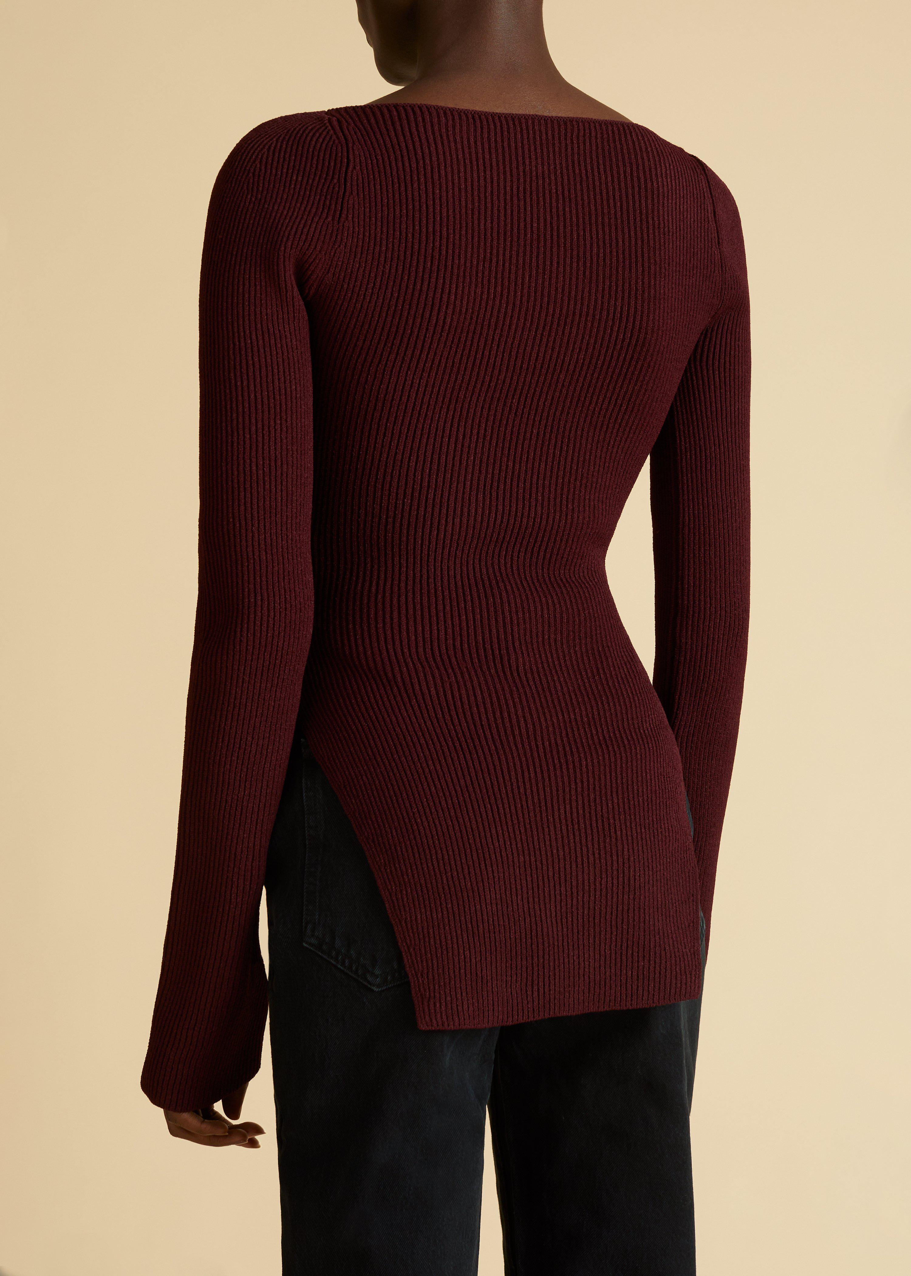 The Maddy Top in Oxblood 2