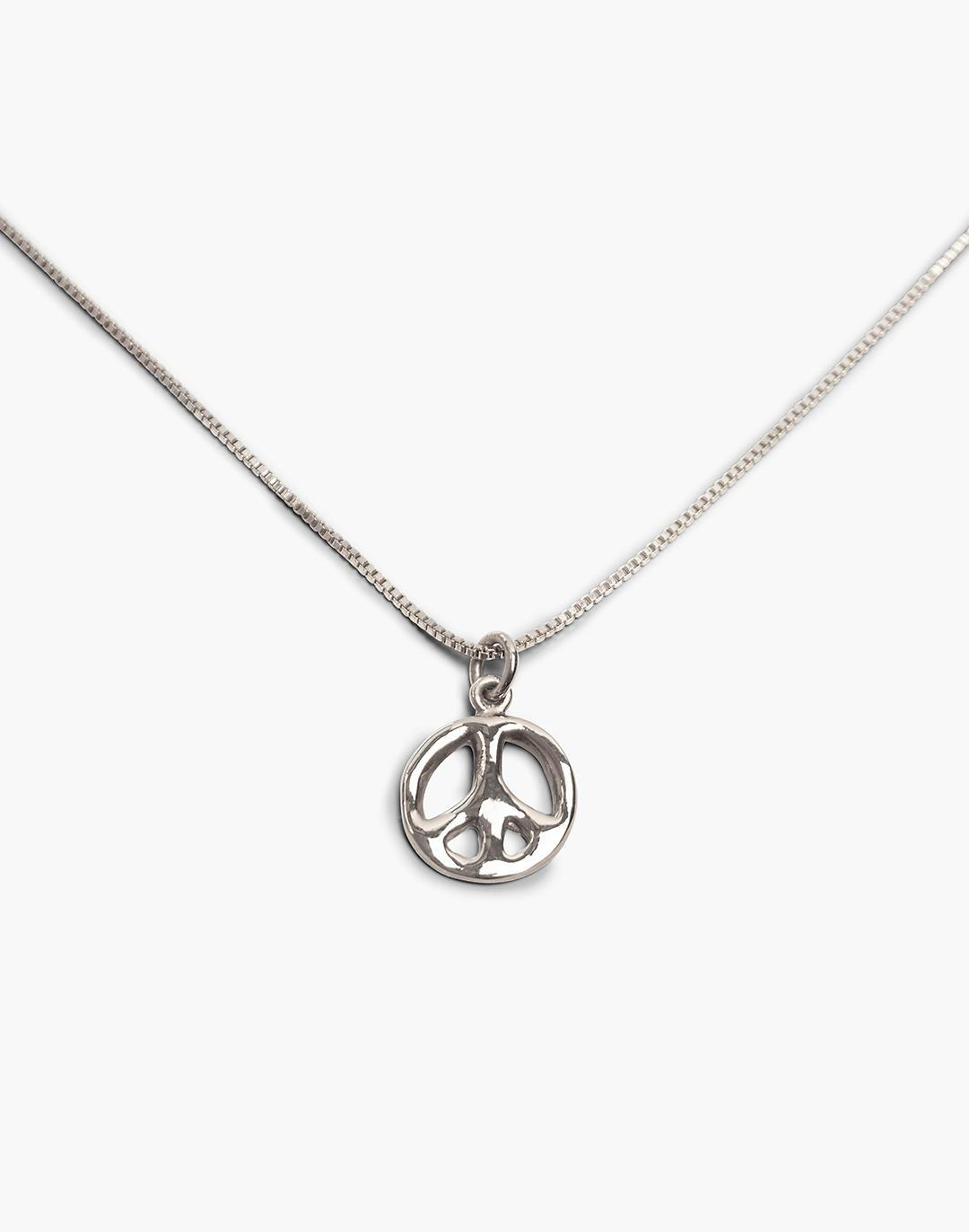 CHARLOTTE CAUWE STUDIO 1969 Peace Sign Necklace in Gold