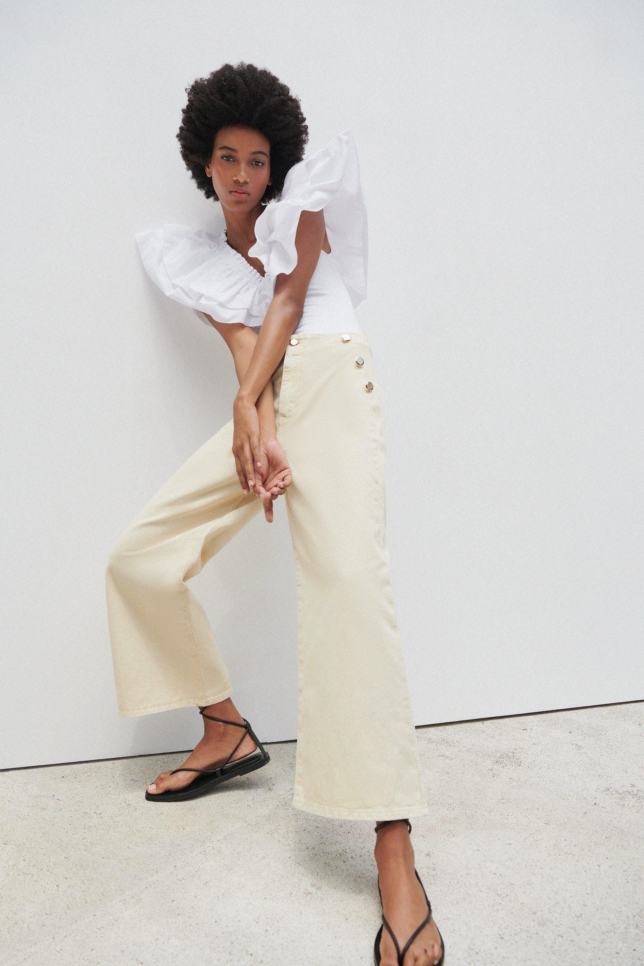 Z1975 CROPPED WIDE LEG BUTTONED JEANS 1
