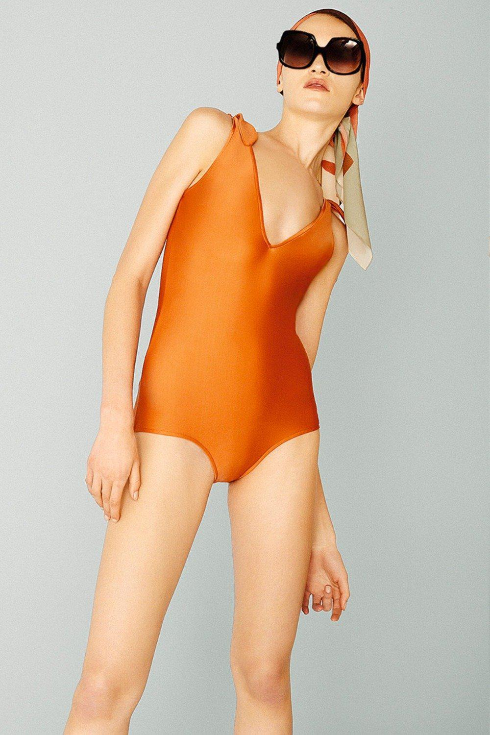 Tropiques V-neck Swimsuit with Straps