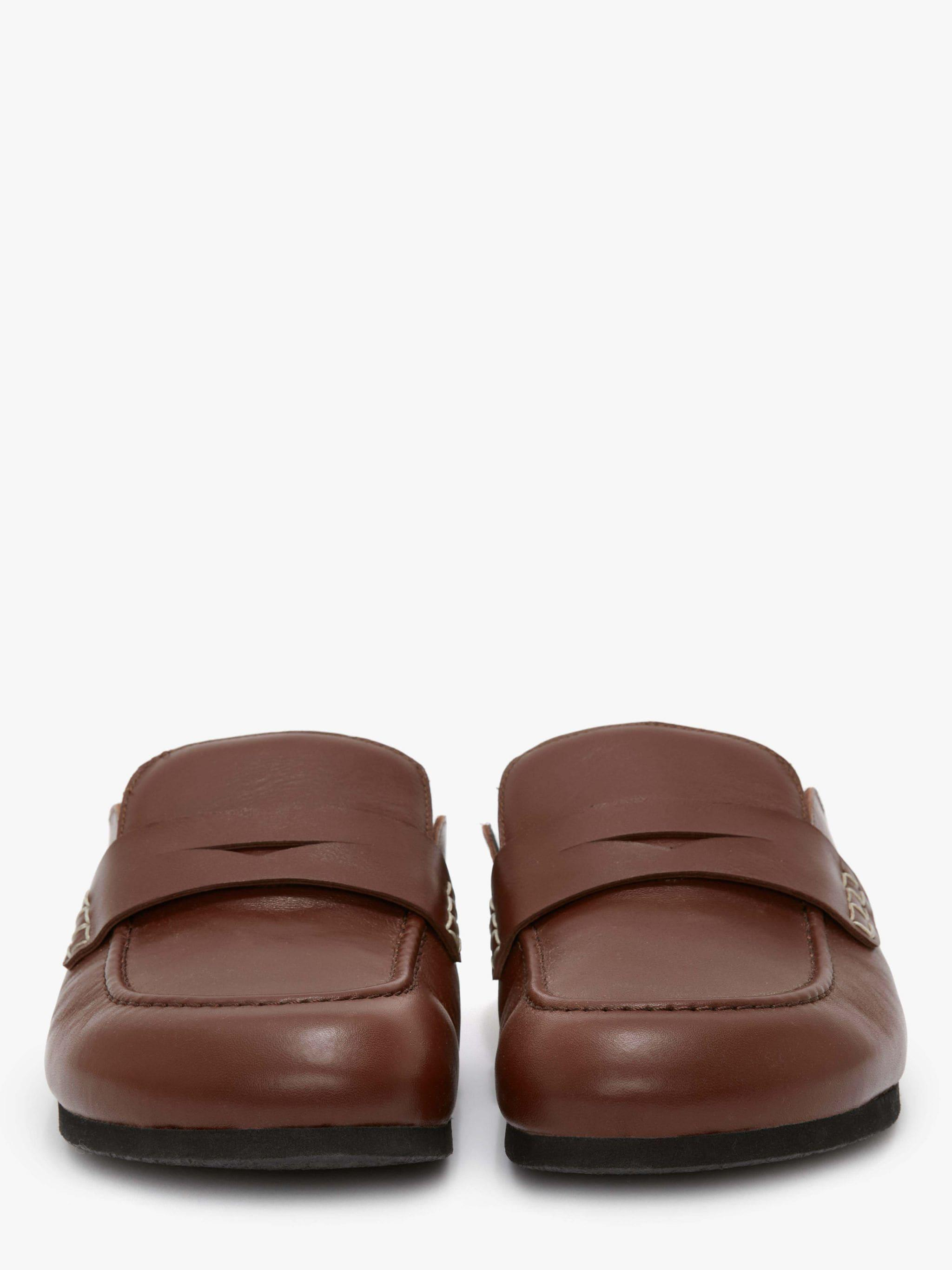 MEN'S LEATHER LOAFER MULES 2