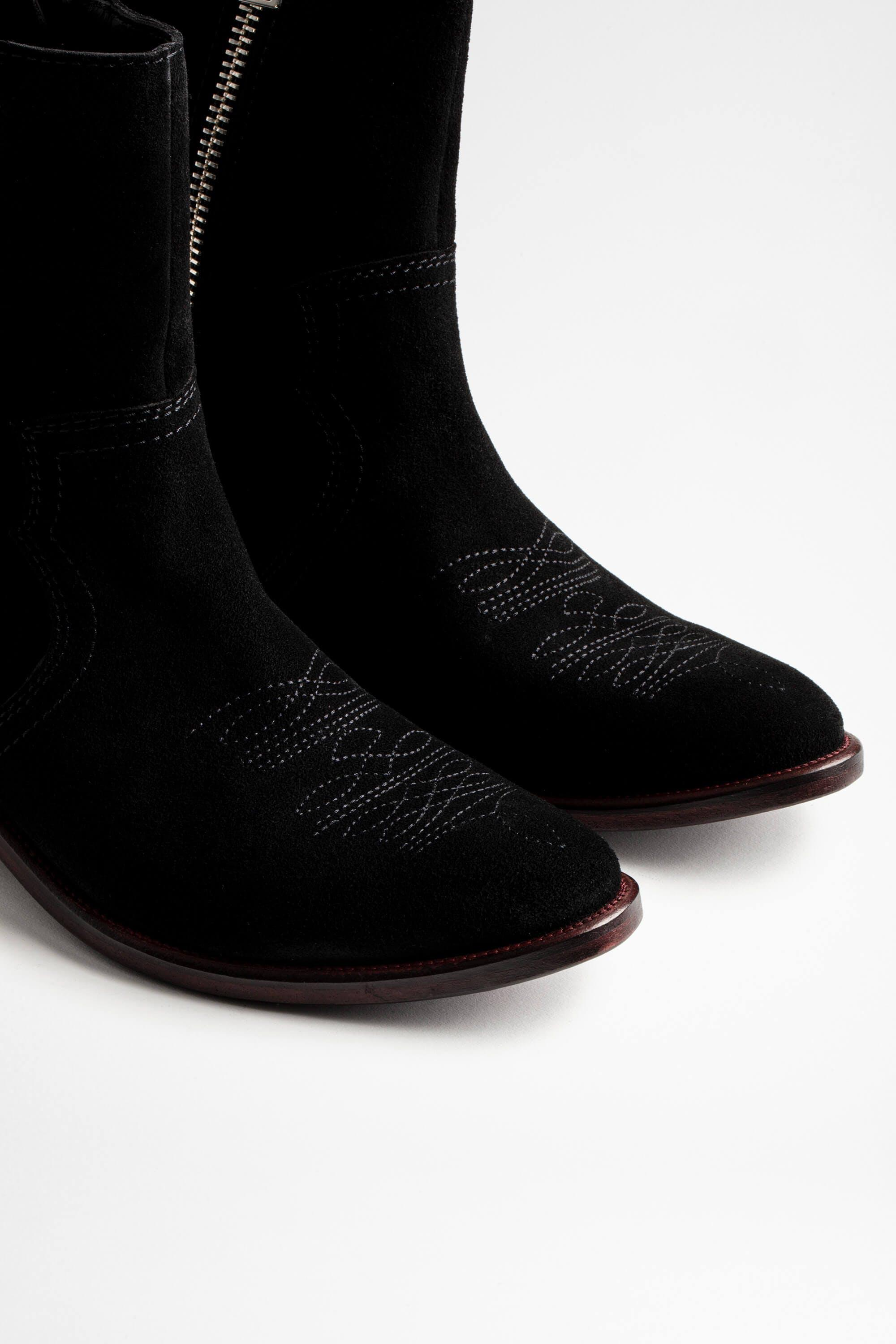 Pilar High Suede Ankle Boots 5