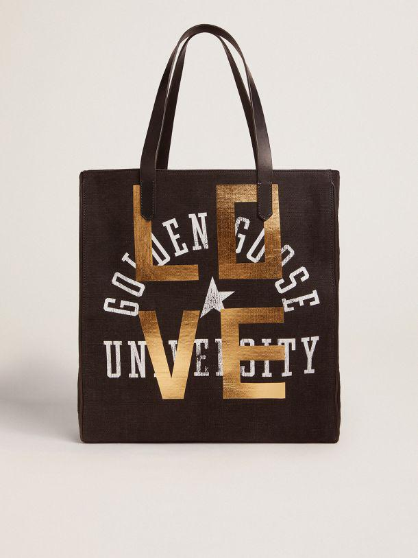 North-South California Bag with ''Love'' print
