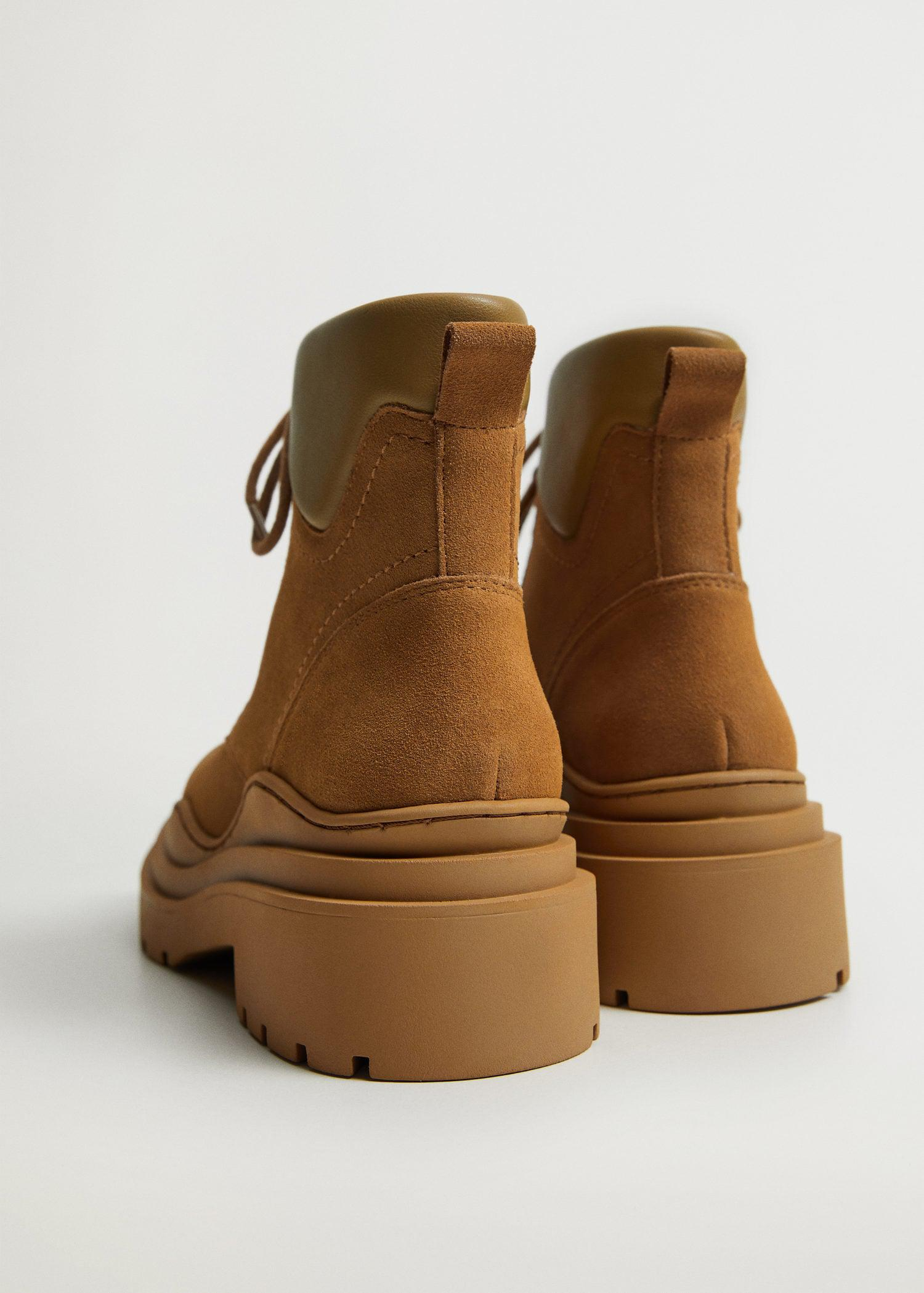 Lace-up track sole boots 2