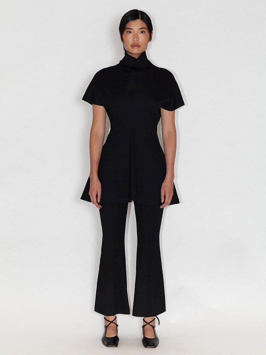 Funnel Neck Fitted Top